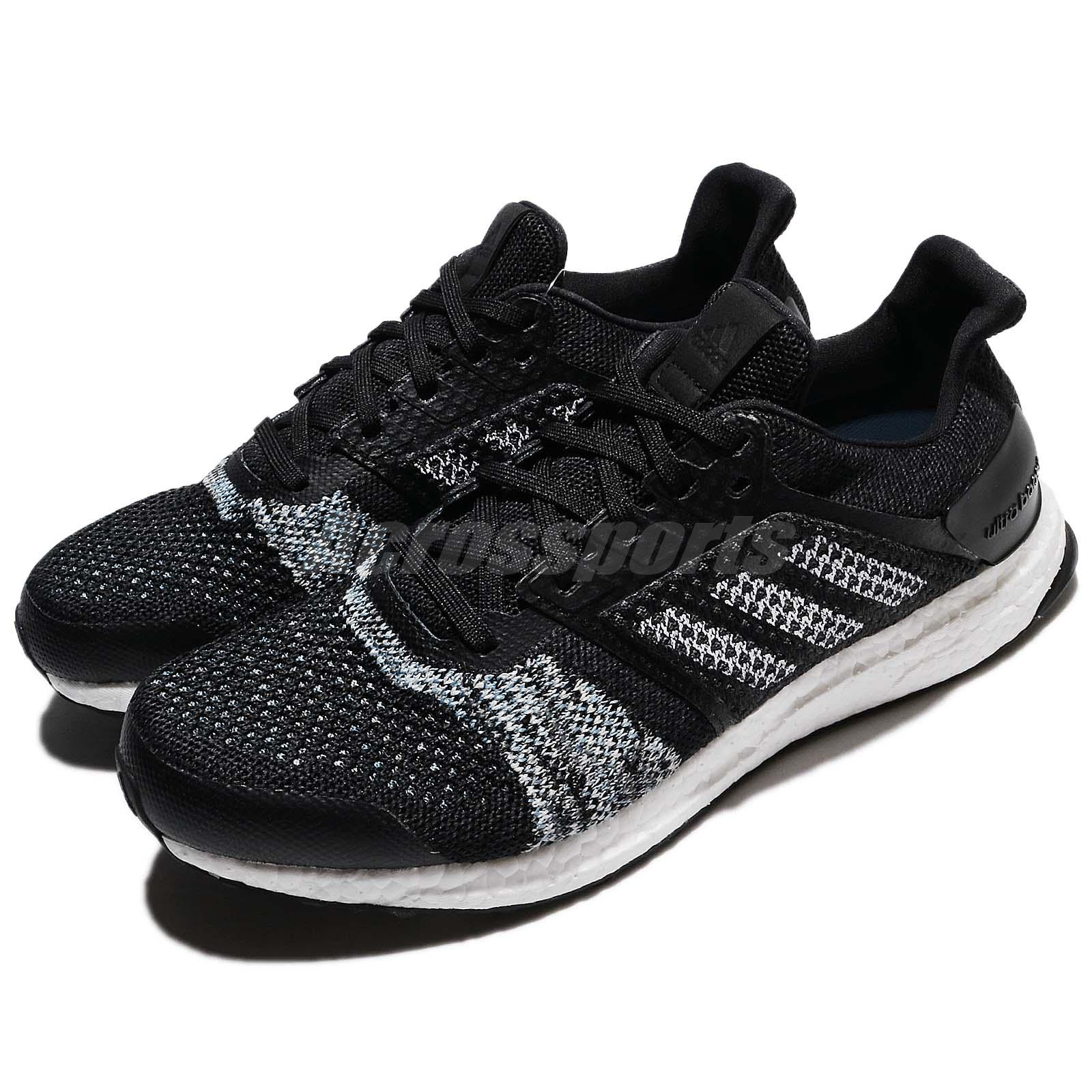 watch f999b 4d8e5 Details about adidas UltraB OOST ST M PrimeKnit Black White Men Running  Shoes Sneakers CQ2144