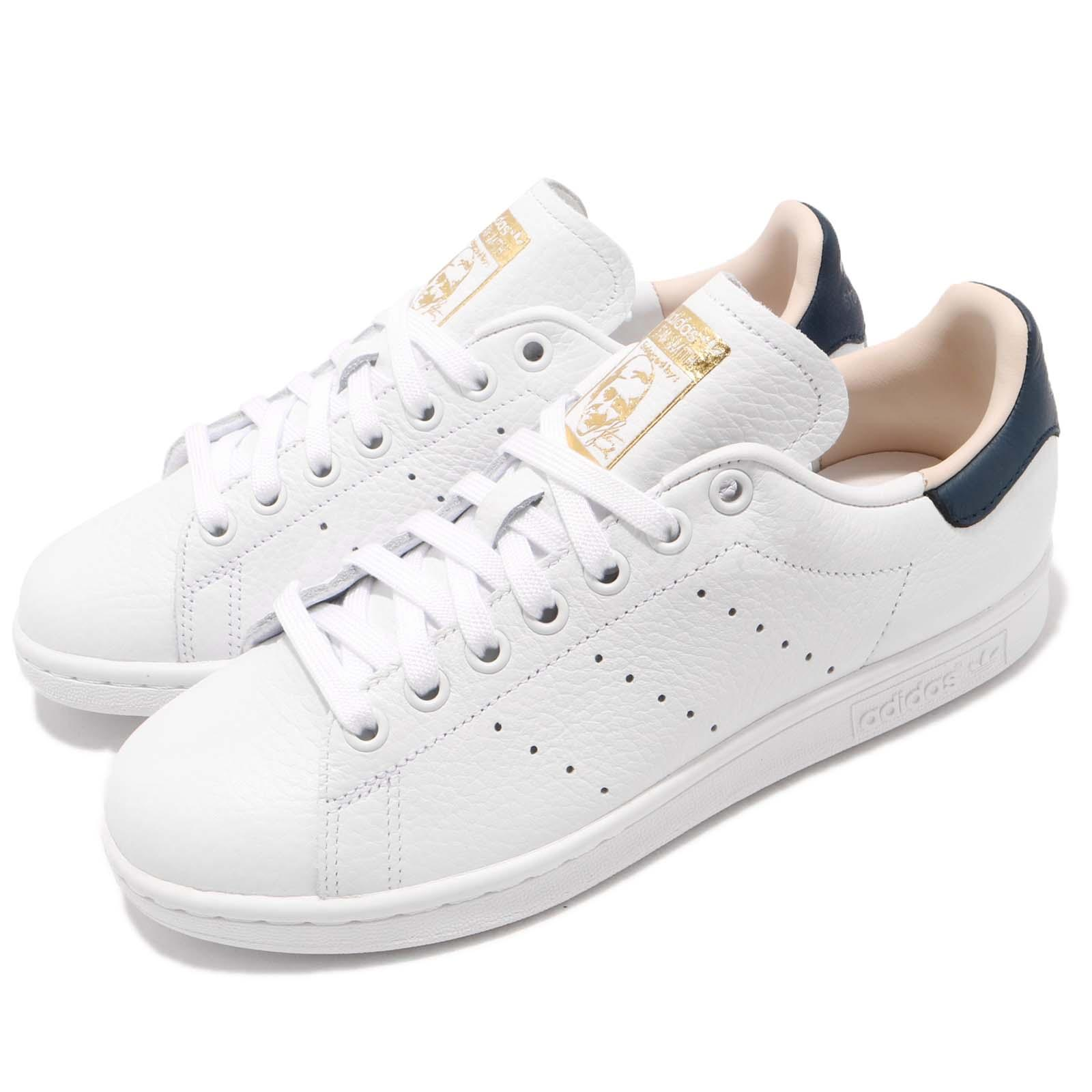 d5e1c32362a6 Details about adidas Originals Stan Smith White Collegiate Navy Men Shoes  Sneakers CQ2201
