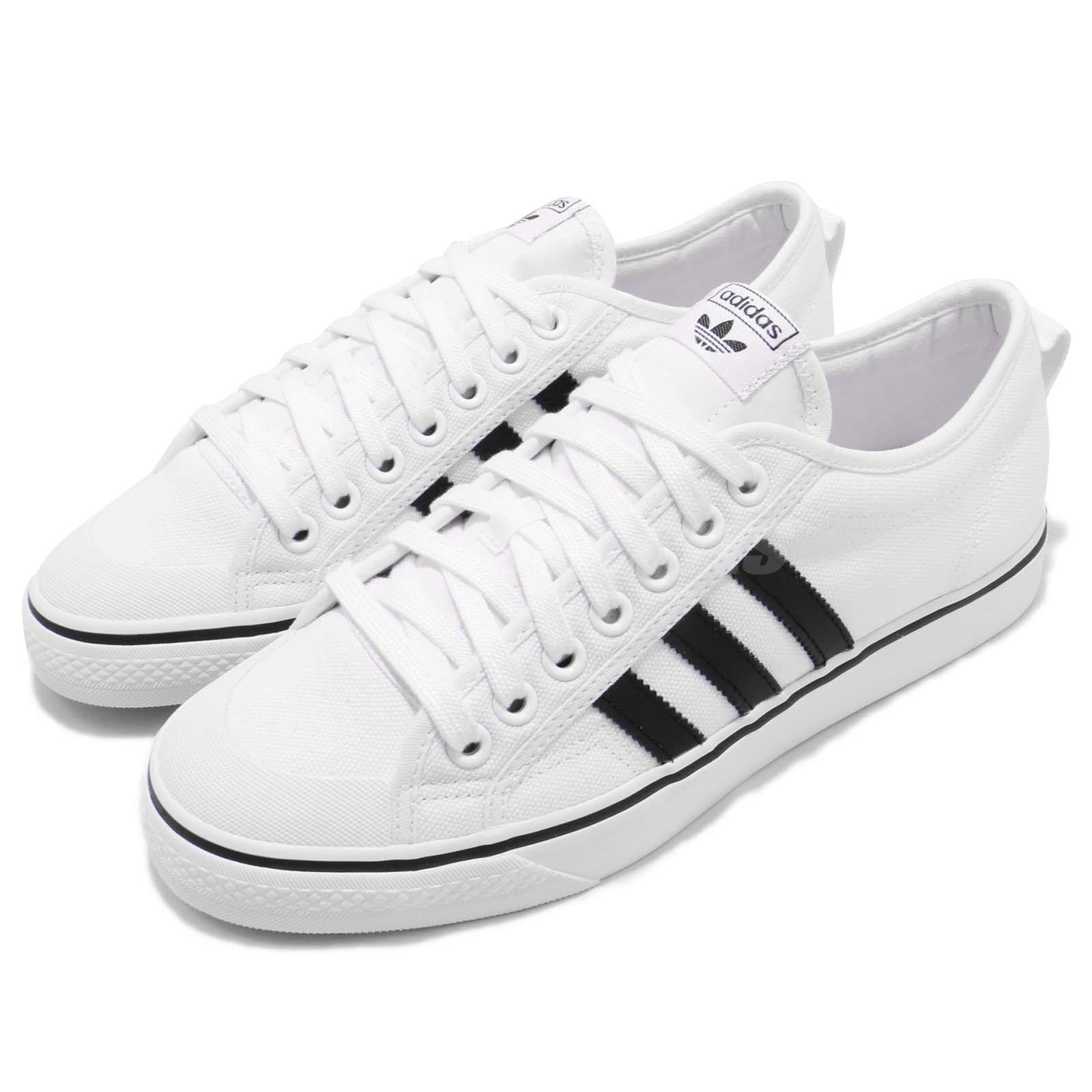 Détails sur adidas Originals Nizza Footwear White Core Black Men Casual Shoes Sneaker CQ2333