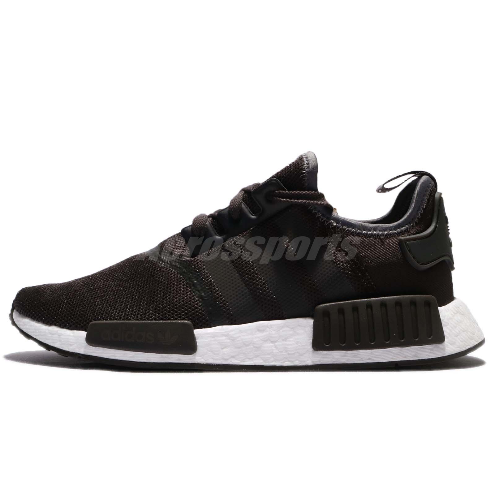 857804e14e918 adidas Originals NMD R1 Boost Brown Trace Grey Metallic Men Shoes Sneaker  CQ2412