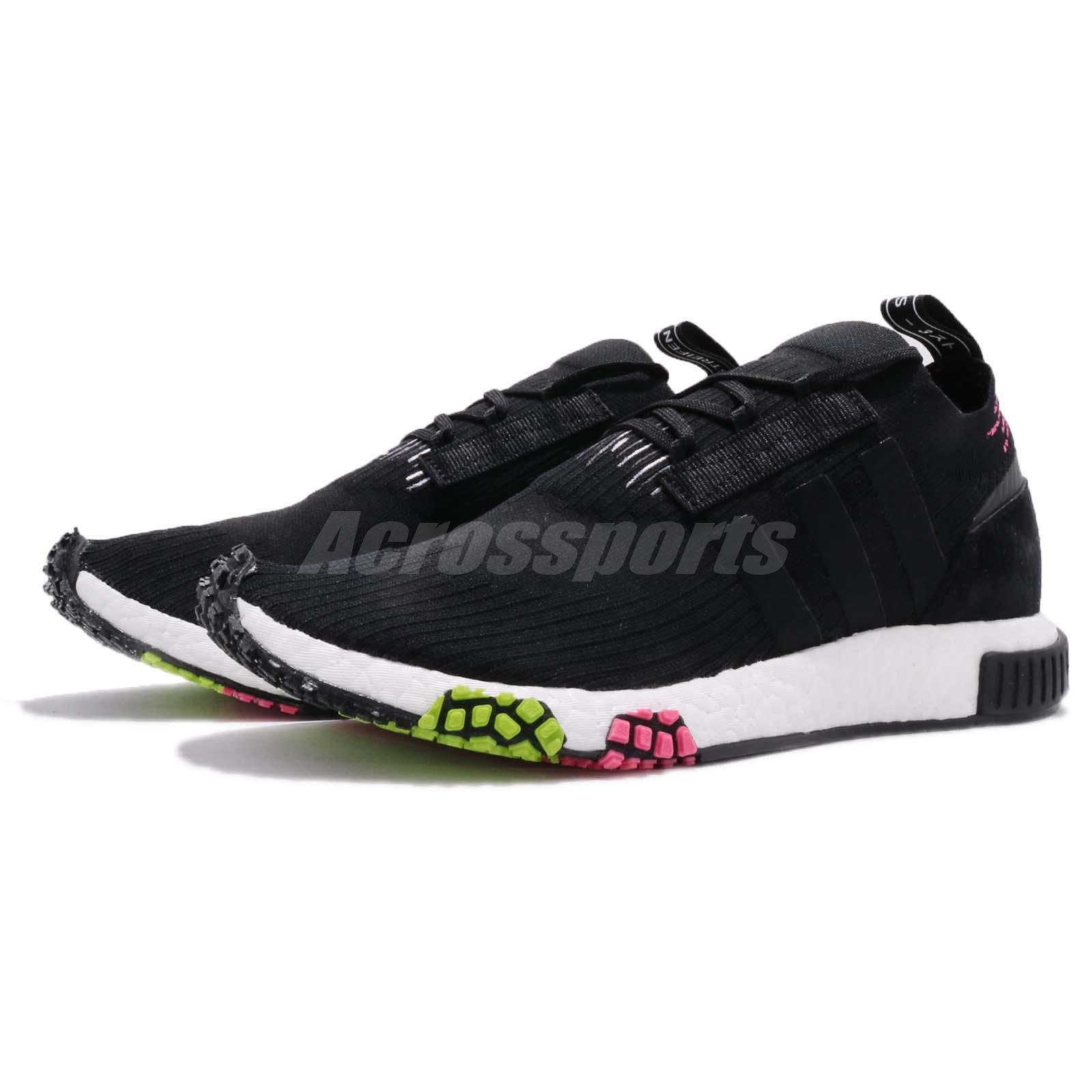 finest selection 4e425 cebba adidas Originals NMD Racer PK PrimeKnit Black Pink Green Men Running ...