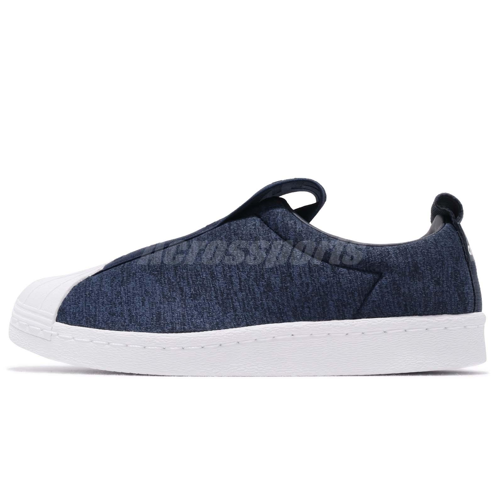 free shipping 74c8d 0736a Details about adidas Originals Superstar BW3S Slip On W Blue White Women  Casual Shoes CQ2519