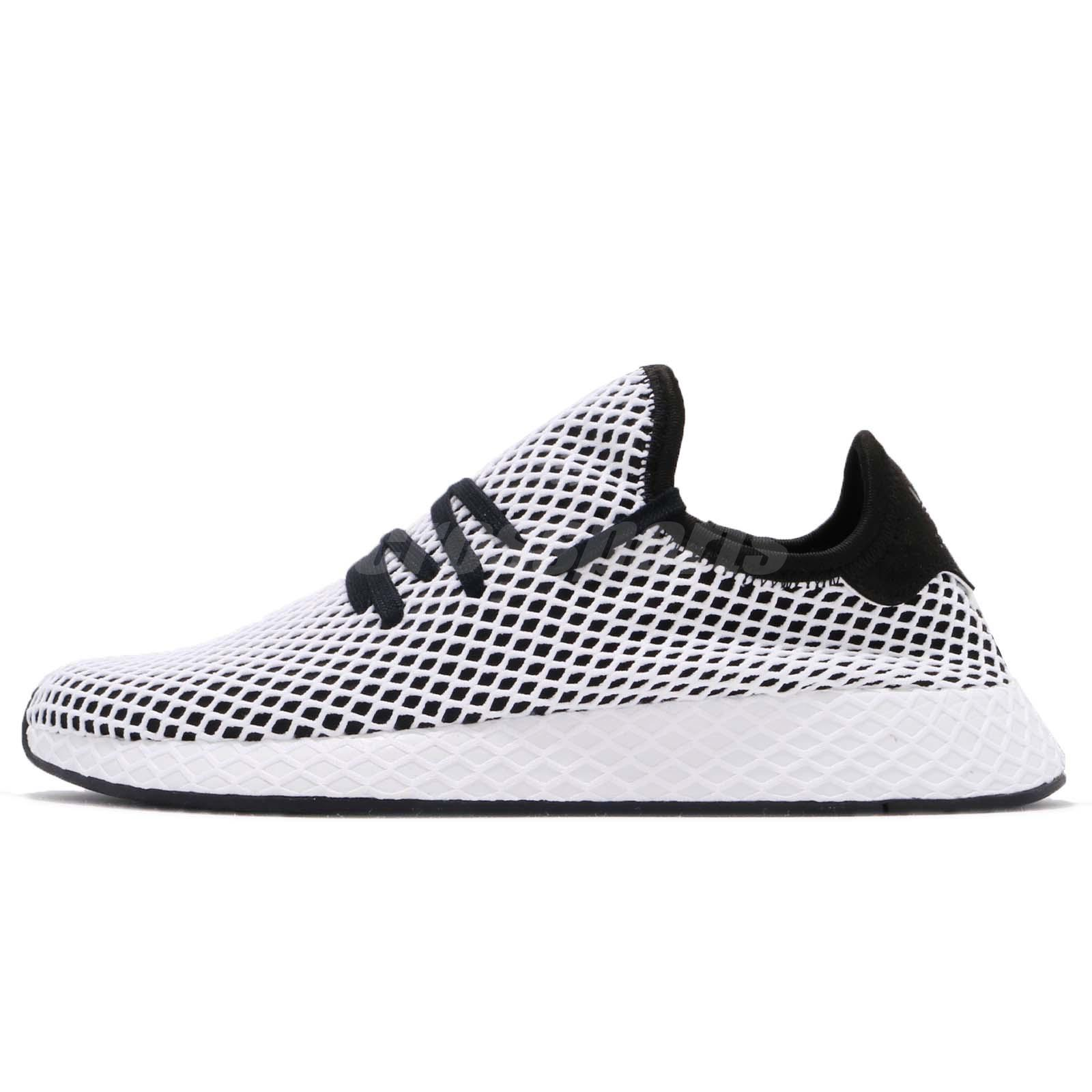 new style f0a80 1d38f adidas Originals Deerupt Runner Black White Men Running Shoes Sneakers  CQ2626