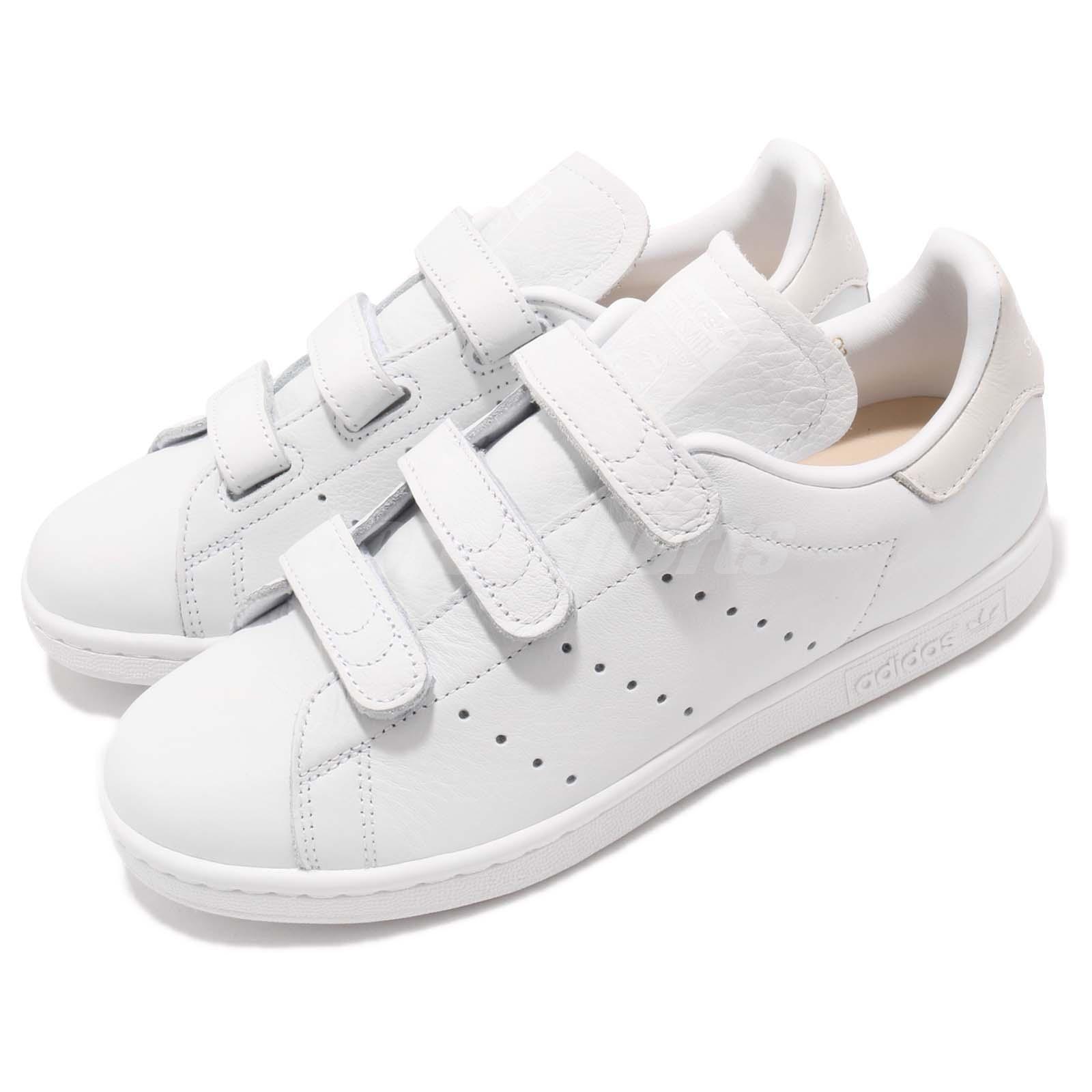 Details about adidas Originals Stan Smith CF Straps Cloud White Men Women Shoes Sneaker CQ2632