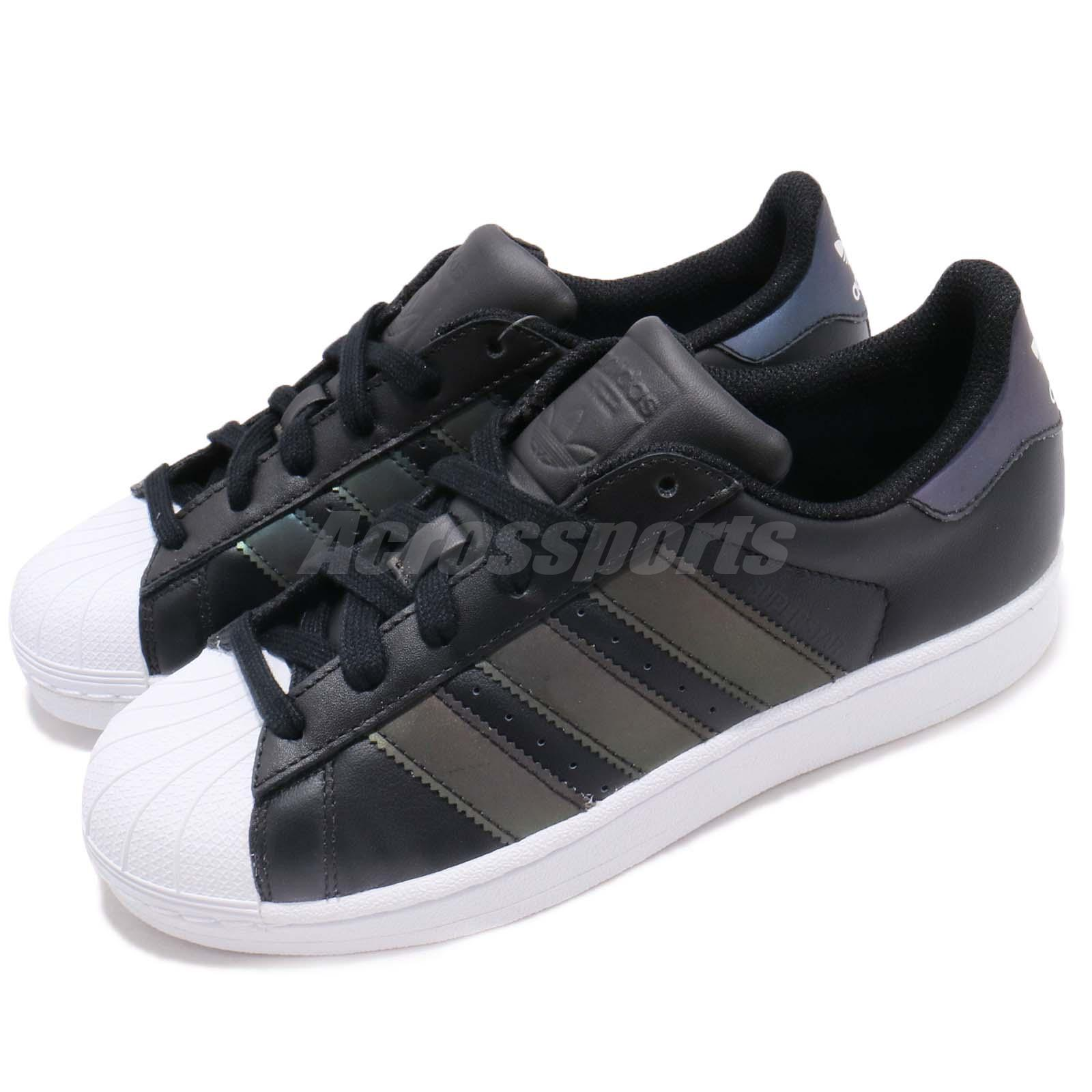 sale retailer ce582 c518c Details about adidas Originals Superstar J Black White Reflective Kid  Junior Women Shoe CQ2688
