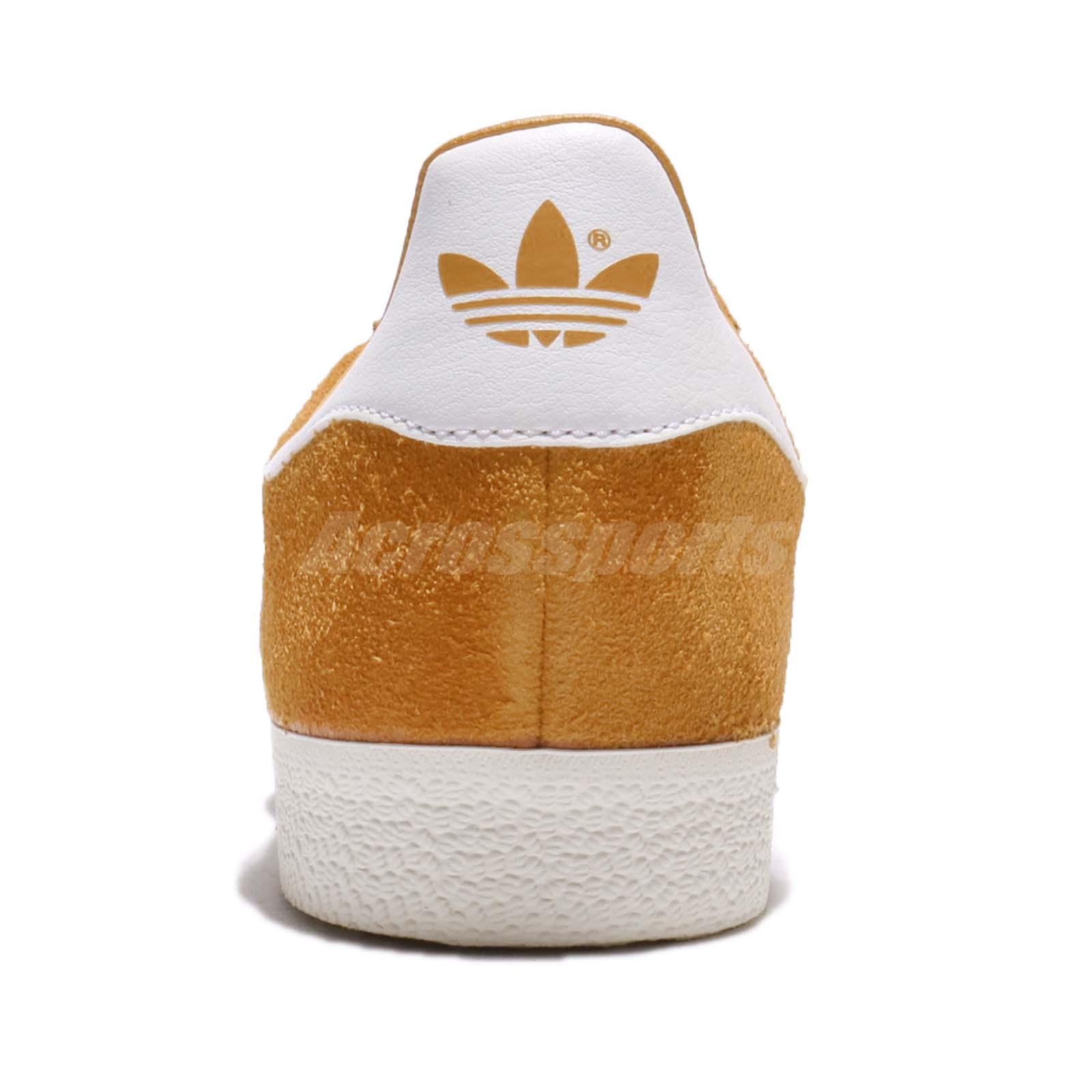 Adidas Originals Gazelle COLLEGIATE GOLD CREAM blanco hombre zapatos