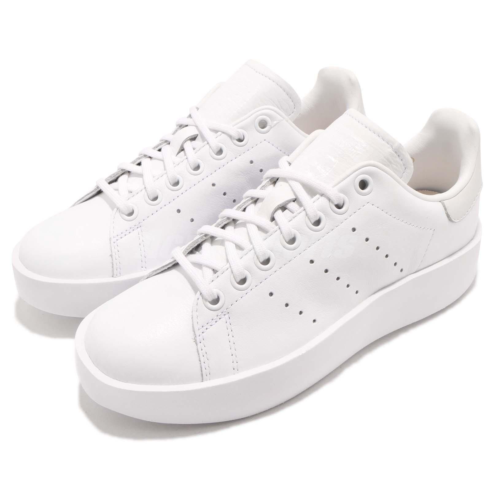 separation shoes f21bd ffc48 Details about adidas Originals Stan Smith Bold W Triple White Women Casual  Shoe Sneaker CQ2830
