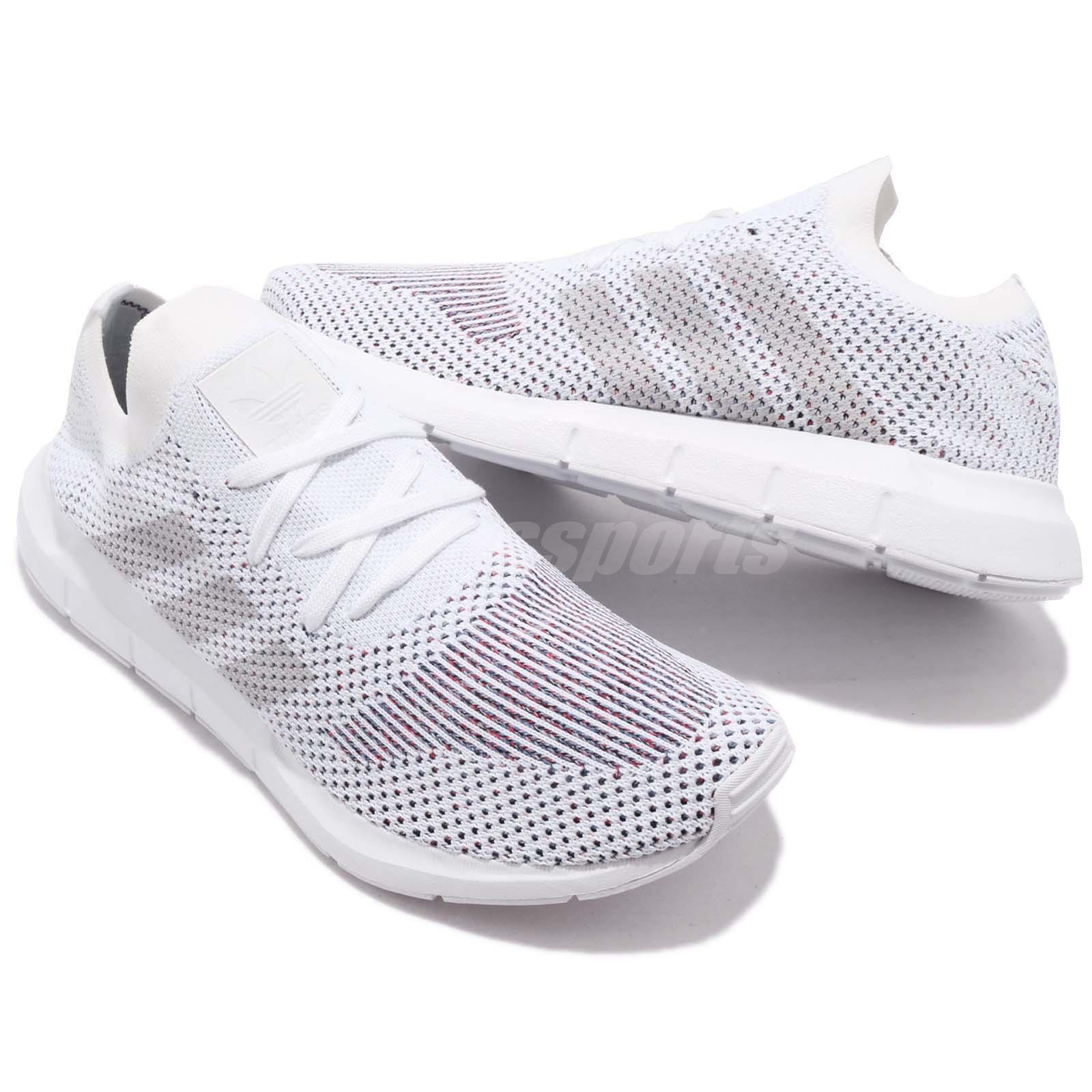 new arrival 00c01 f8d8c adidas Originals Swift Run PK Primeknit Cloud White Grey Men Running ...