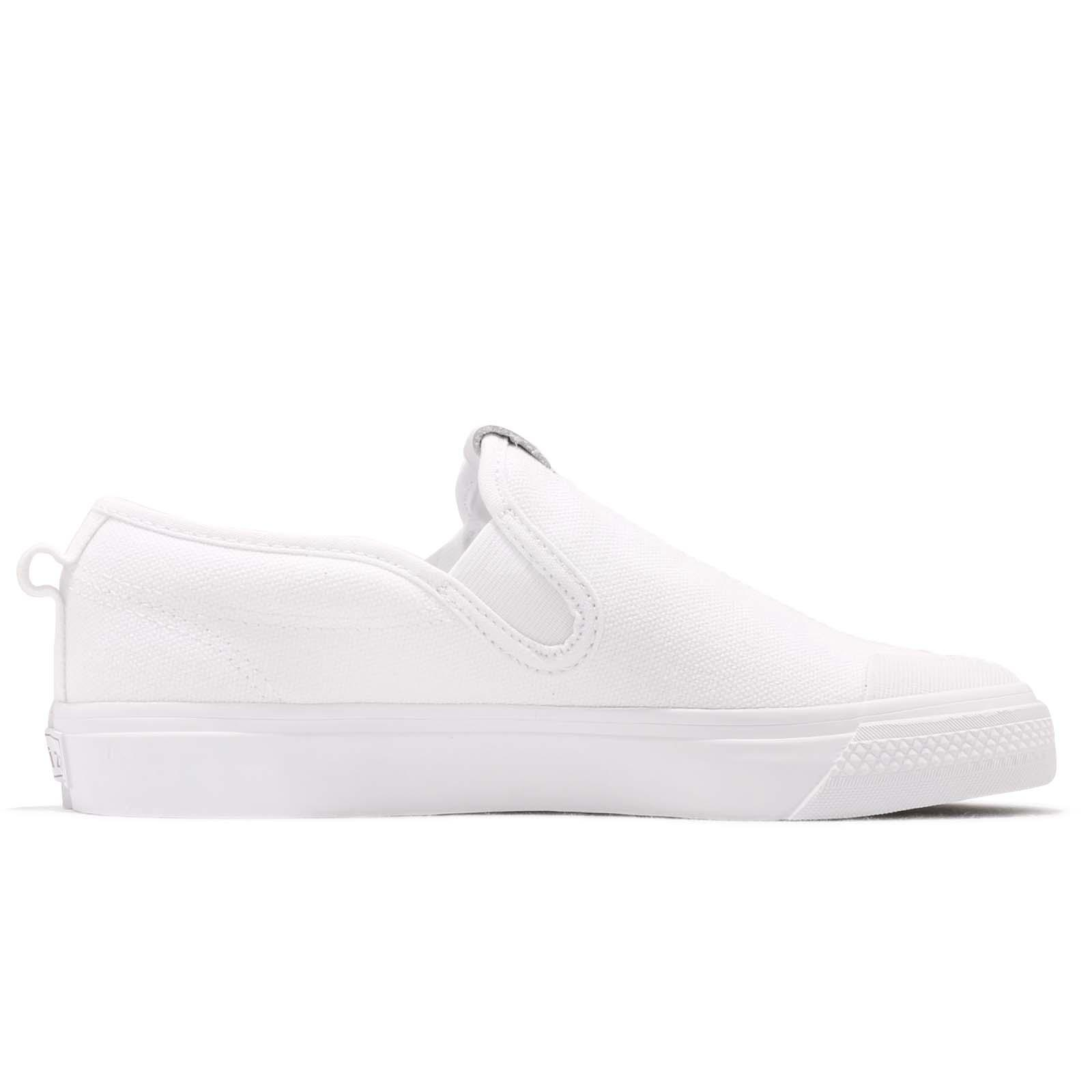 adidas Originals Nizza Slipon W White Women Slip On Casual Shoes ... 4850a72ad0fd2