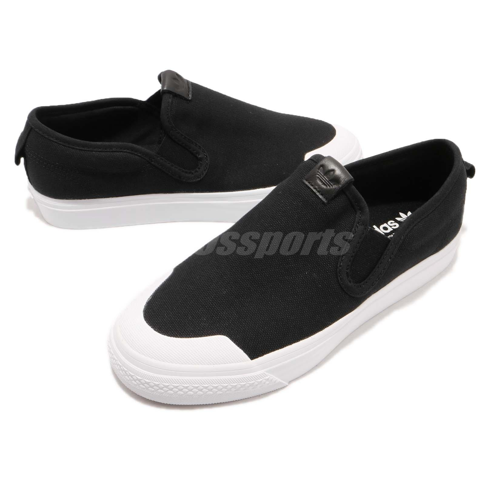 Details about adidas Originals Nizza Slipon W Black White Women Slip On  Casual Shoes CQ3104 05e68c31256ca