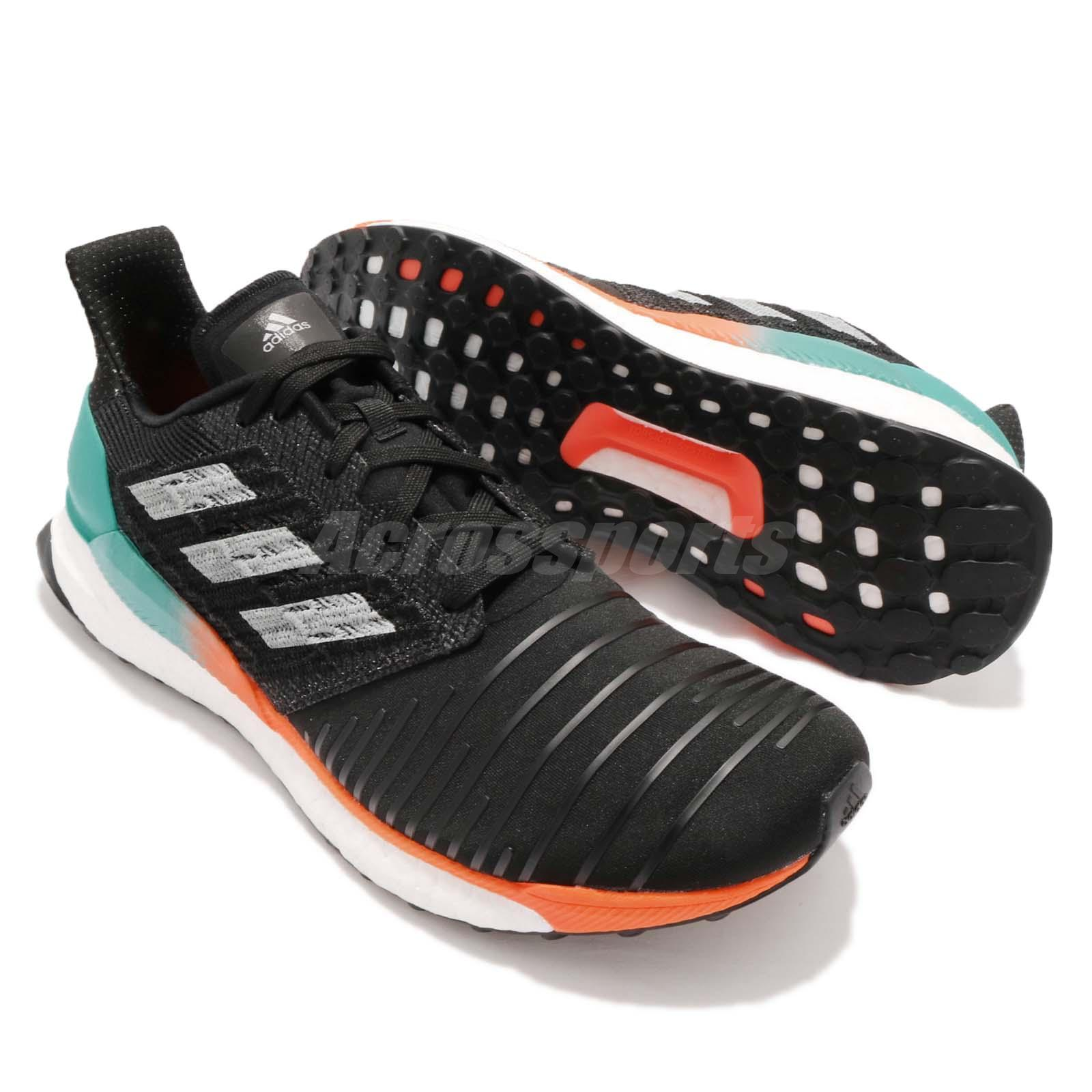 d3cc276d104fb adidas Solar BOOST M Hi-Res Aqua Black Grey Men Running Shoes ...