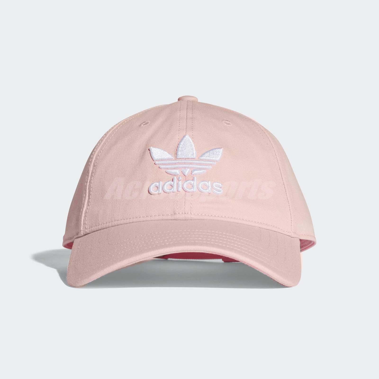 61dd0123f21d9 adidas Unisex Originals Trefoil Classic Cap Pink Sport Baseball Hat CV8143