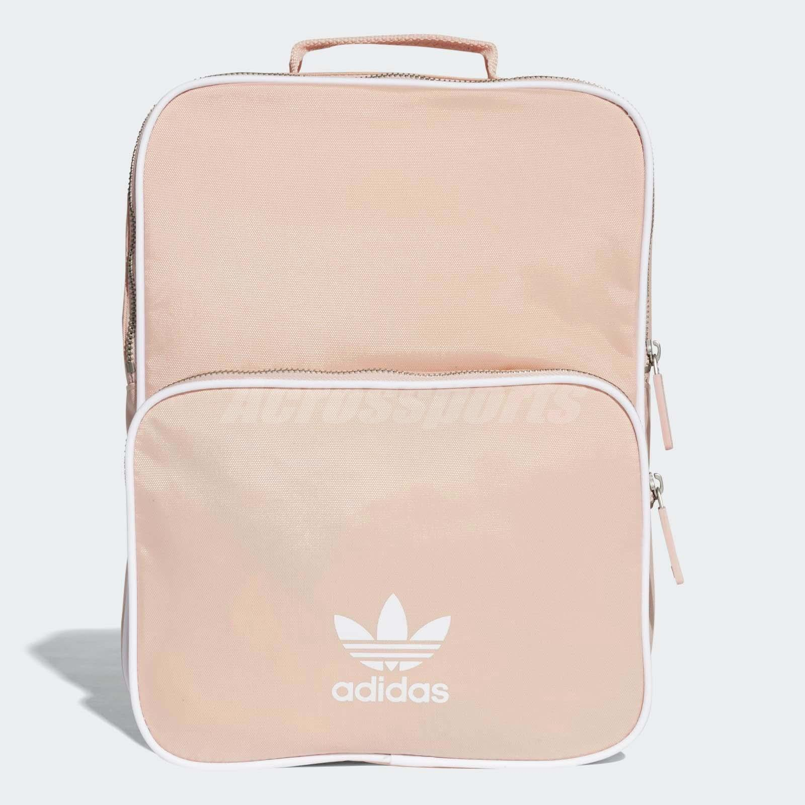 Details about adidas Originals Classic Backpack Pink White Trefoil Sports  Bag CW0621 b1a75471d1556