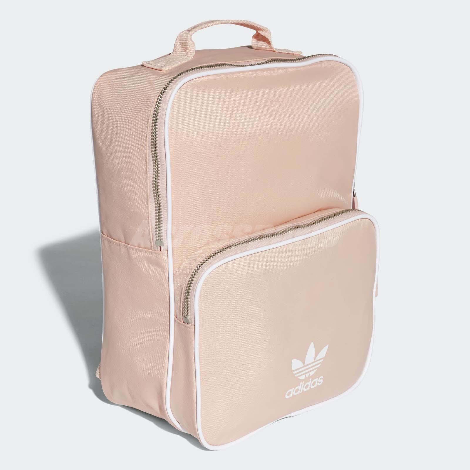 71e0b7fbaf adidas Originals Classic Backpack Pink White Trefoil Sports Bag ...