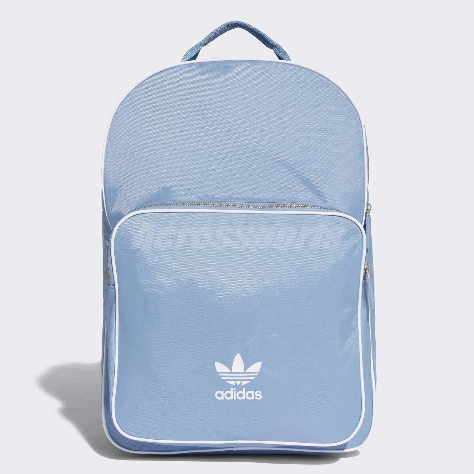 Details about adidas Unisex Originals Classic Backpack Heritage Trefoil Bag  Blue White CW0631 066b11ba30