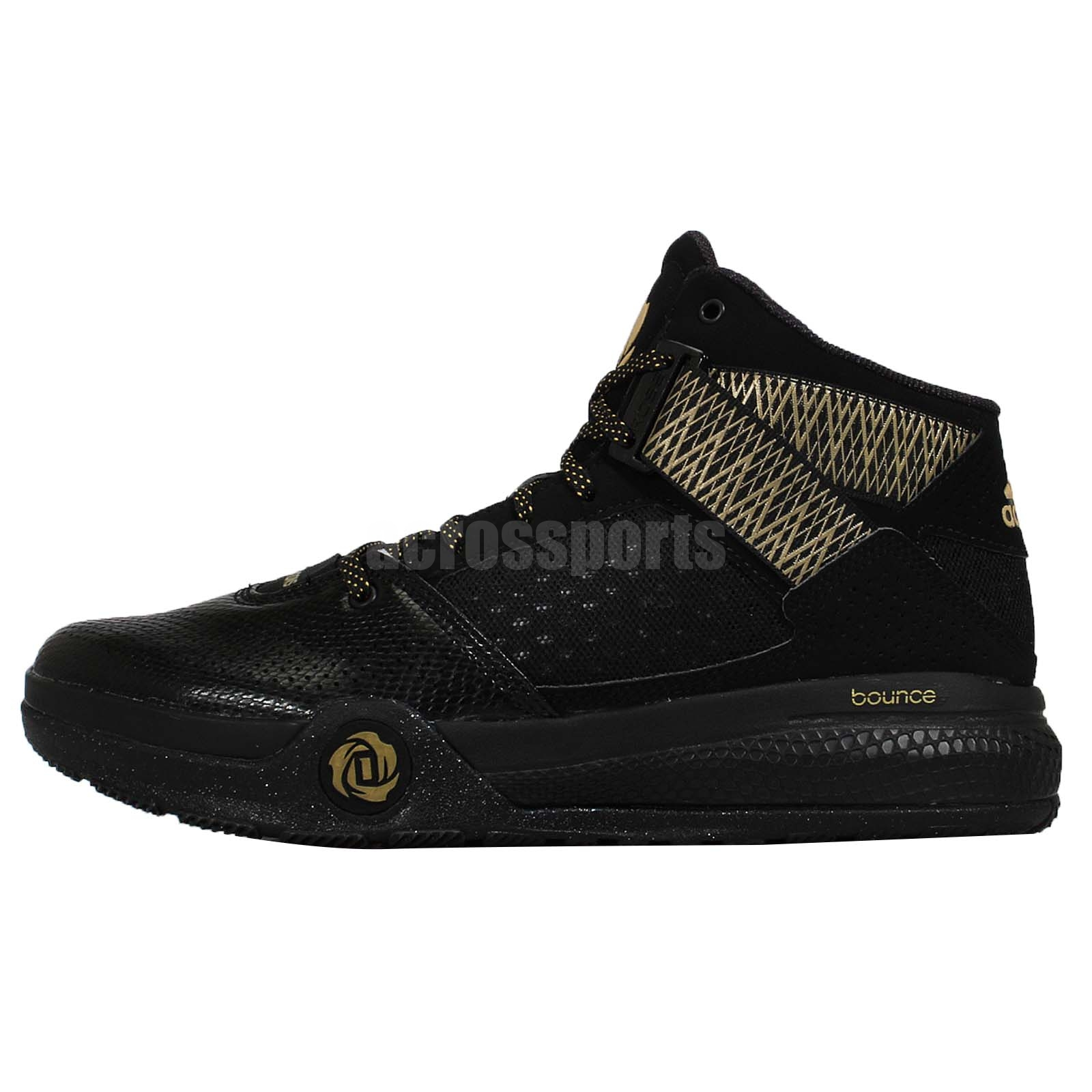 76db7ec53a01 D Rose 8 Shoes D Rose Sneakers  Adidas D Rose 773 IV Derrick Rose Black  Gold Mens