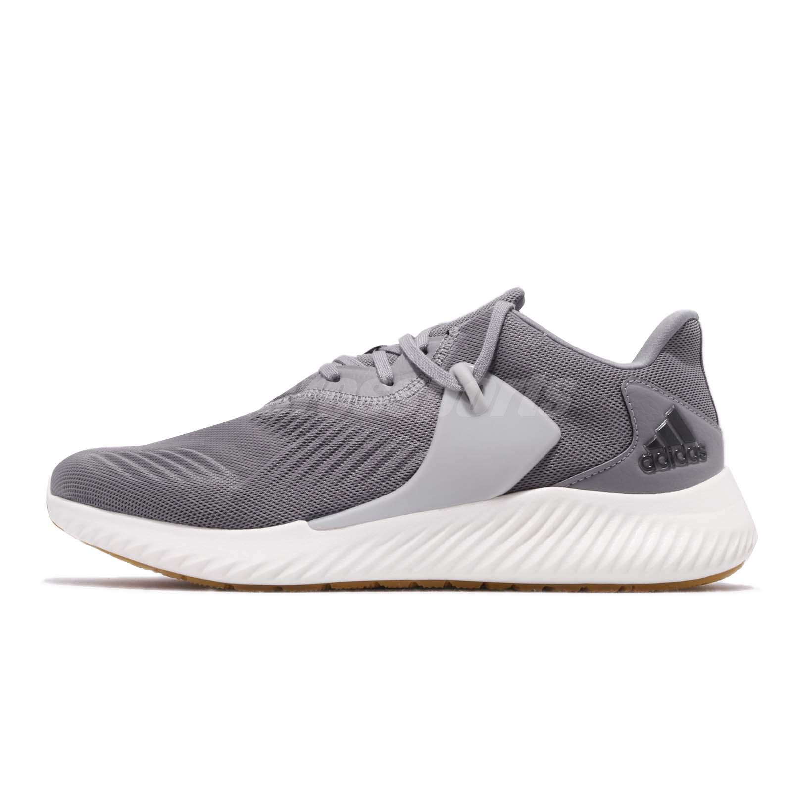 9a801e7df adidas Alphabounce RC 2.0 Grey White Gum Men Running Shoes Sneakers D96522