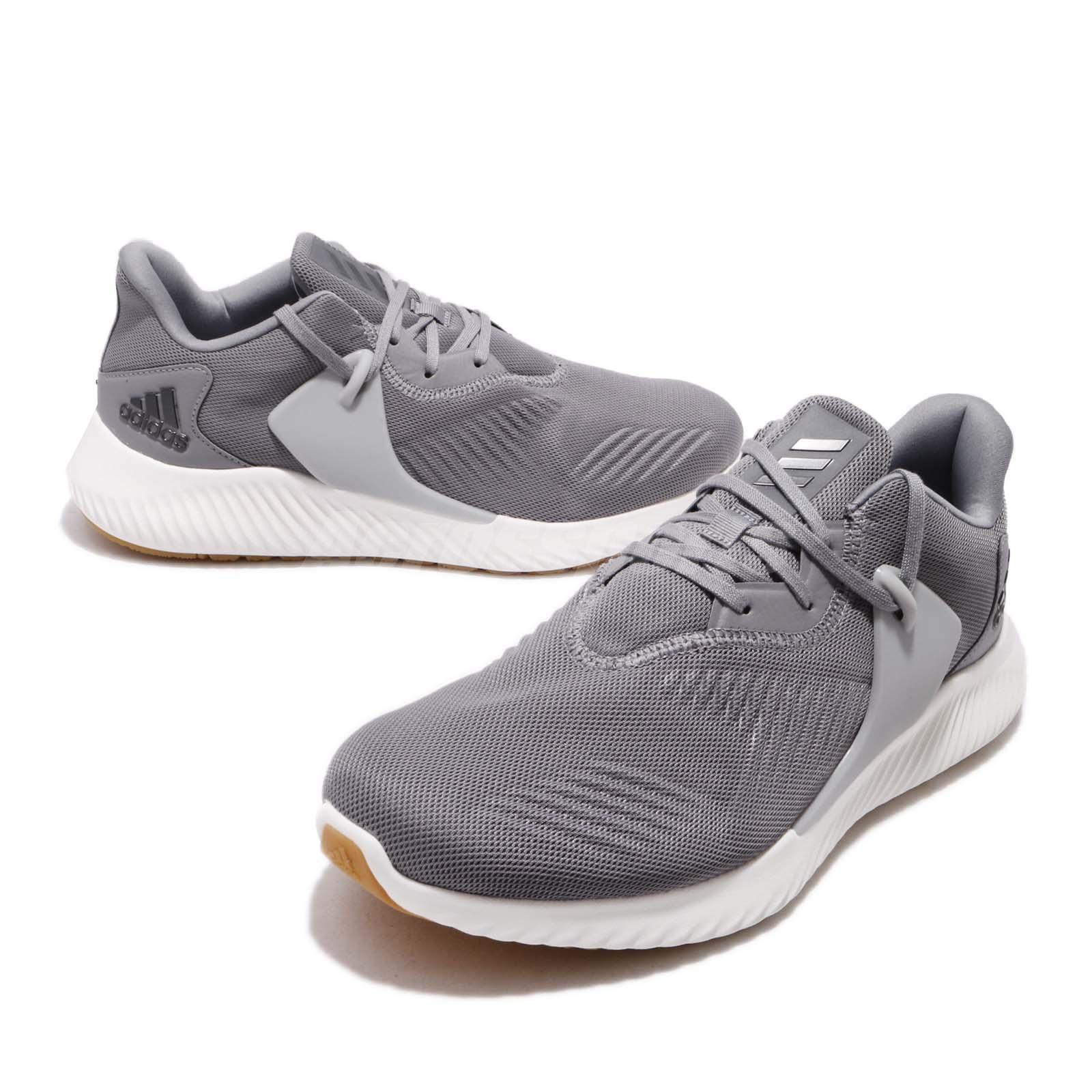 ada0d7eb7 adidas Alphabounce RC 2.0 Grey White Gum Men Running Shoes Sneakers ...