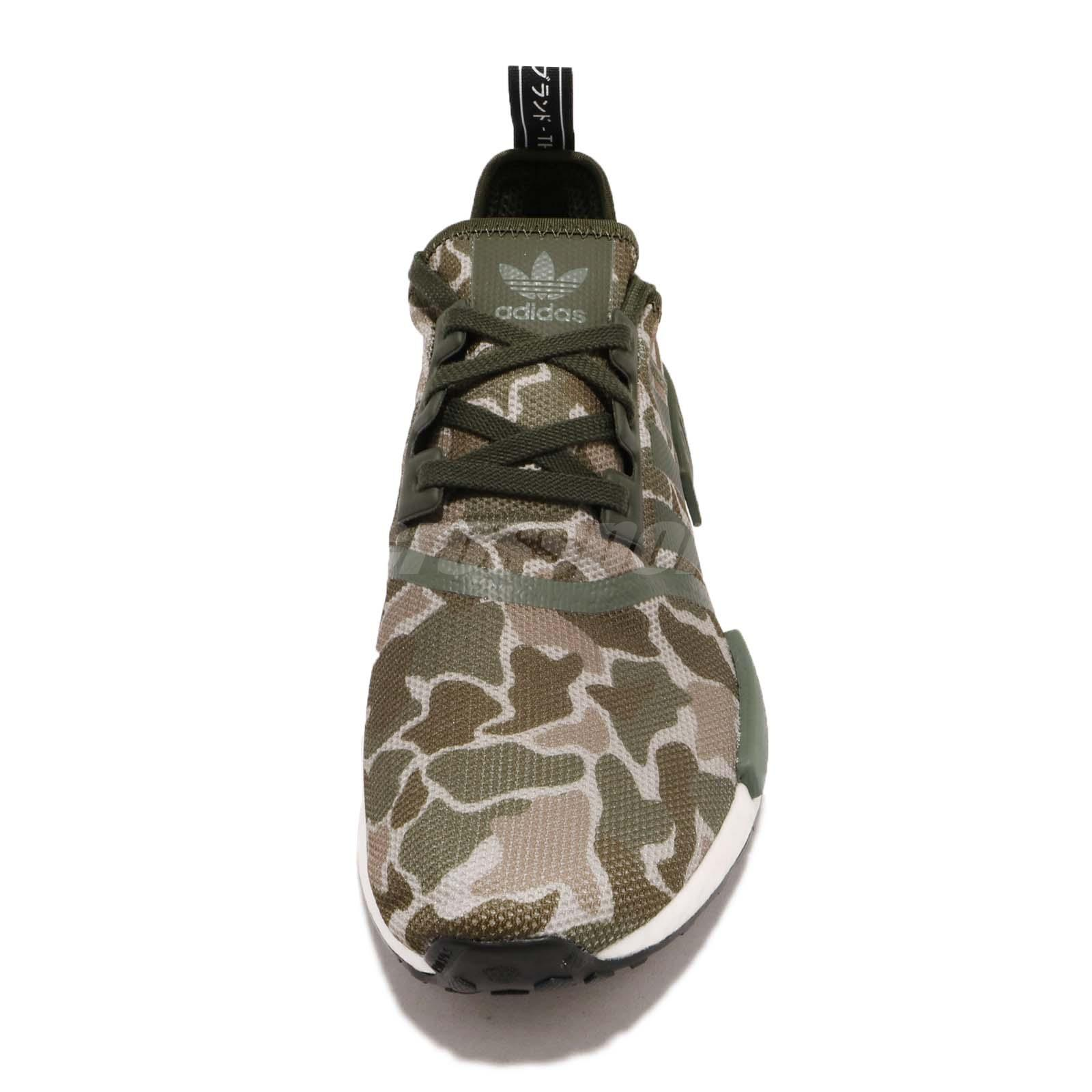 pretty nice 0c17d f469b adidas Originals NMDR1 Green Brown Camo Mens Running Shoes B