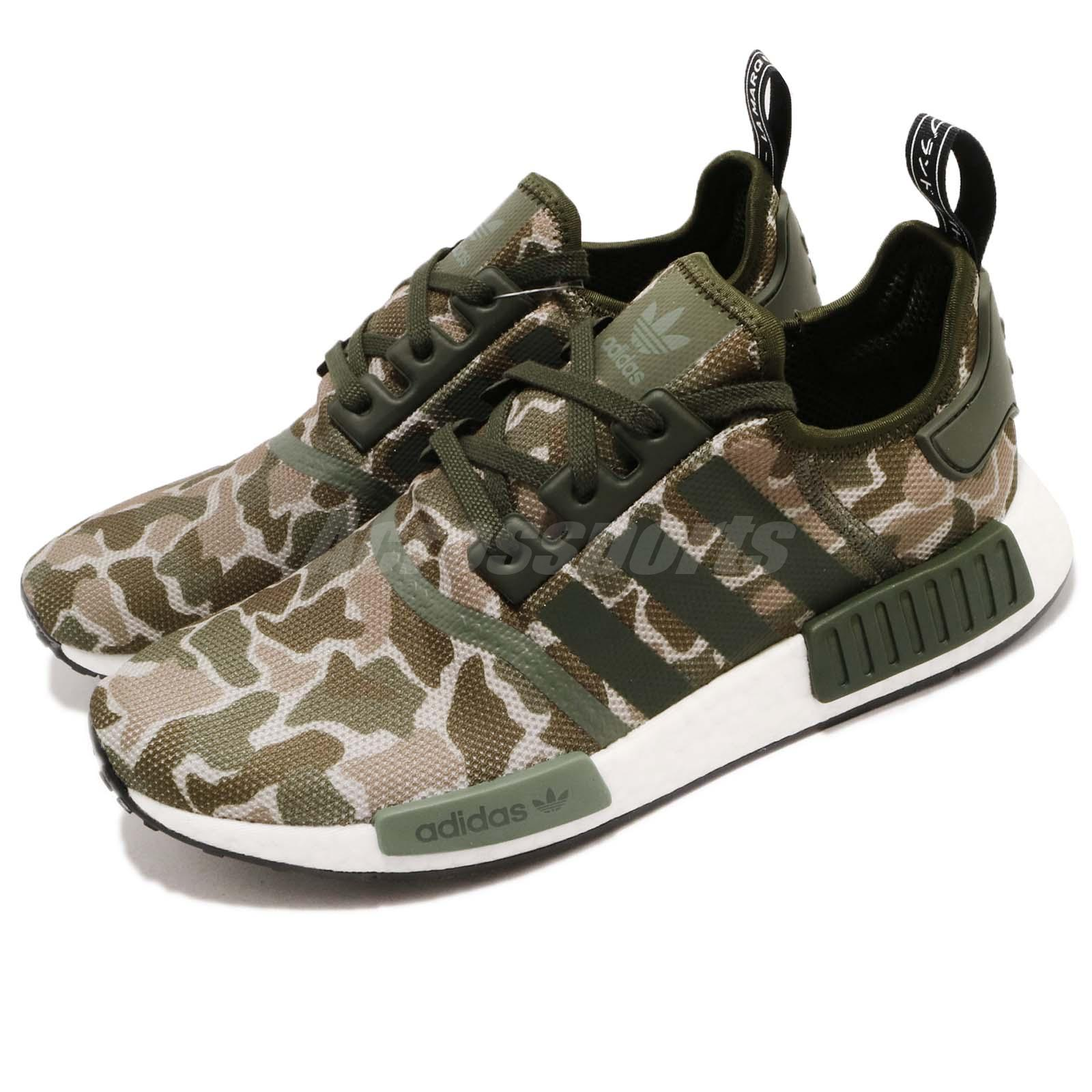 010963400d856 Details about adidas Originals NMD R1 Green Brown Camo Mens Running Shoes  BOOST D96617