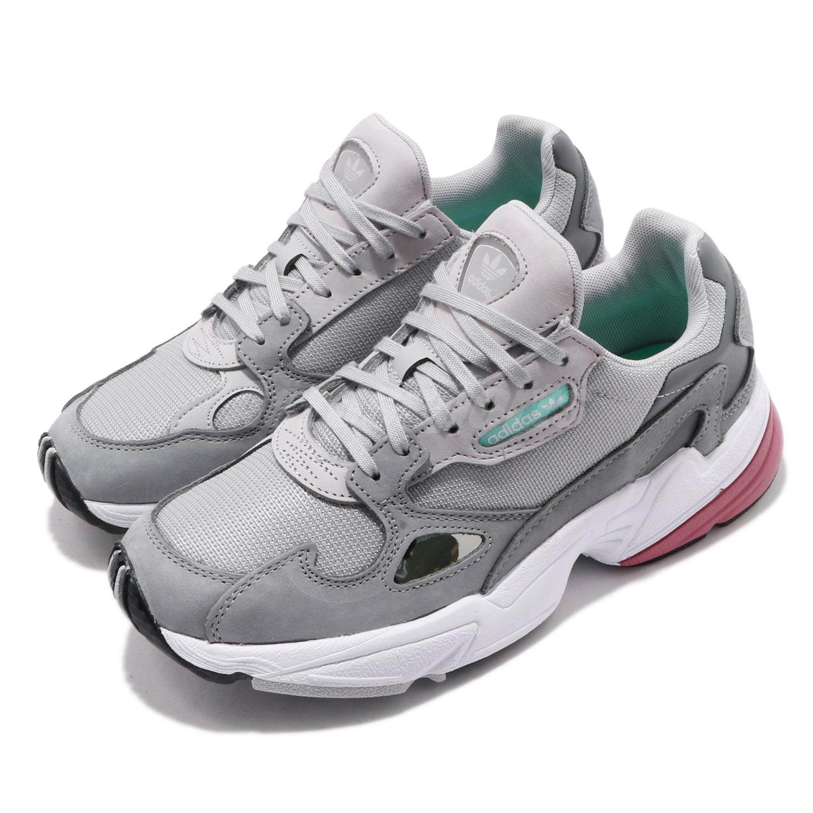 033ebdad24a Details about adidas Originals Falcon W Grey Trace Maroon Women Running  Shoes Sneakers D96698