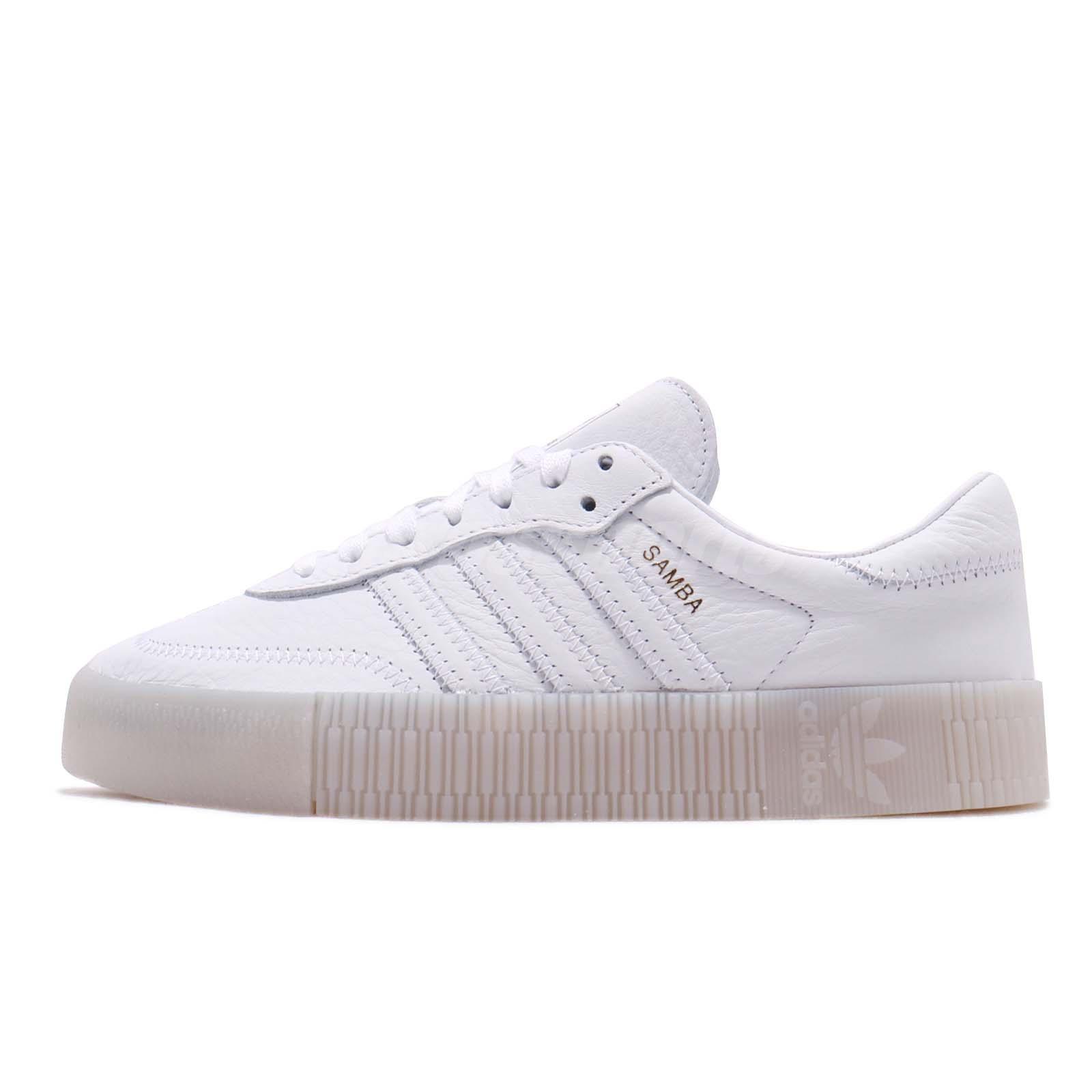 release info on 03572 9d1e8 adidas Originals Sambarose W Platform Two Tone White Women Shoes Sneakers  D96702
