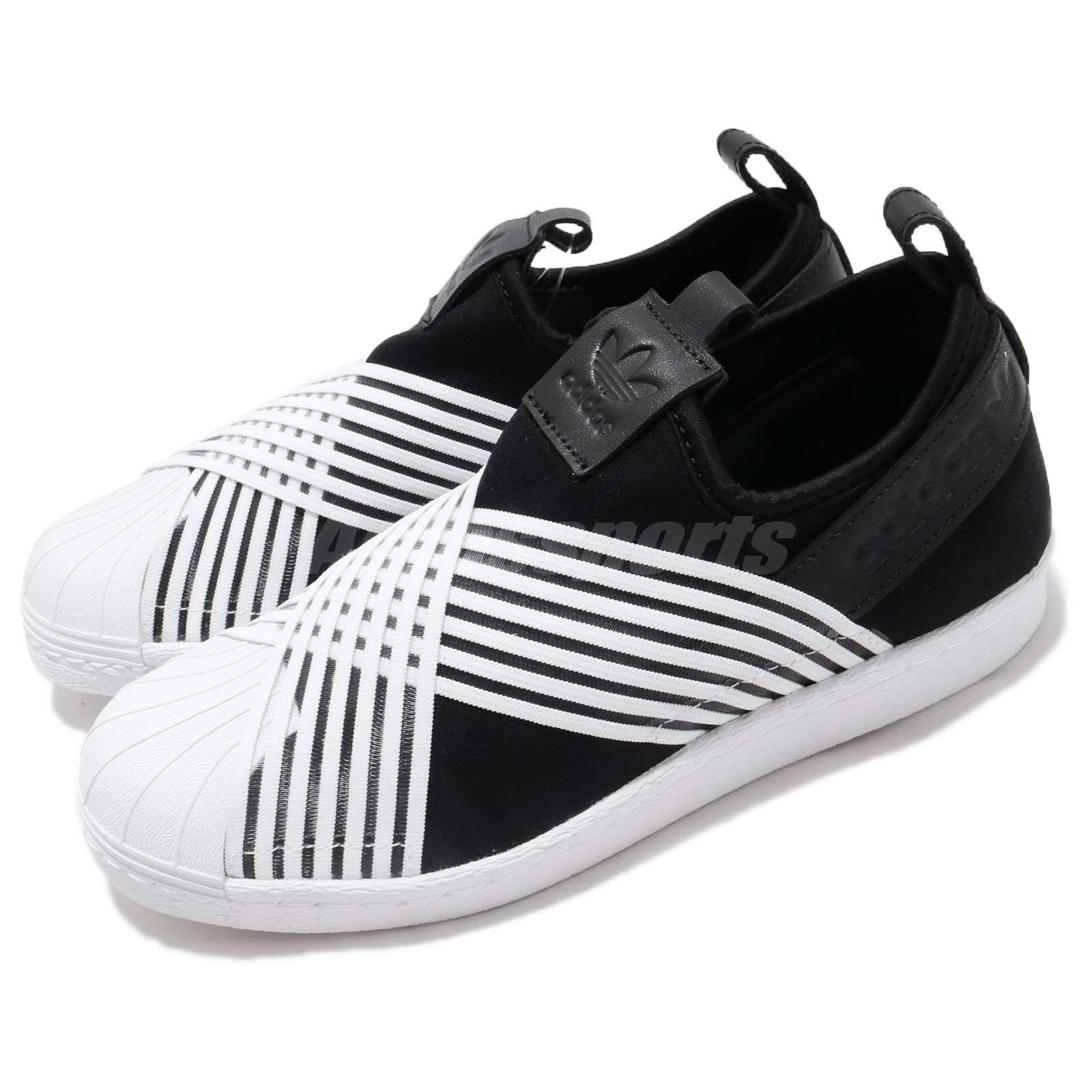 timeless design 247da 9e98e Details about adidas Originals Superstar Slip On W Black White Women Slip  On Shoes D96703