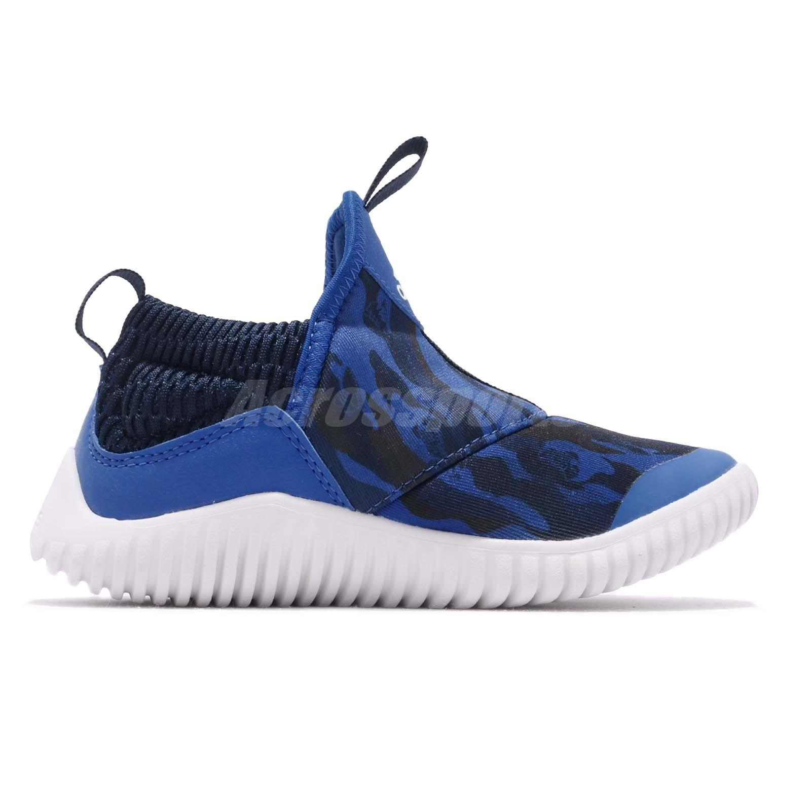 94c3693319b1 adidas RapidaZen C Blue Navy White Kid Preschool Slip On Shoes ...