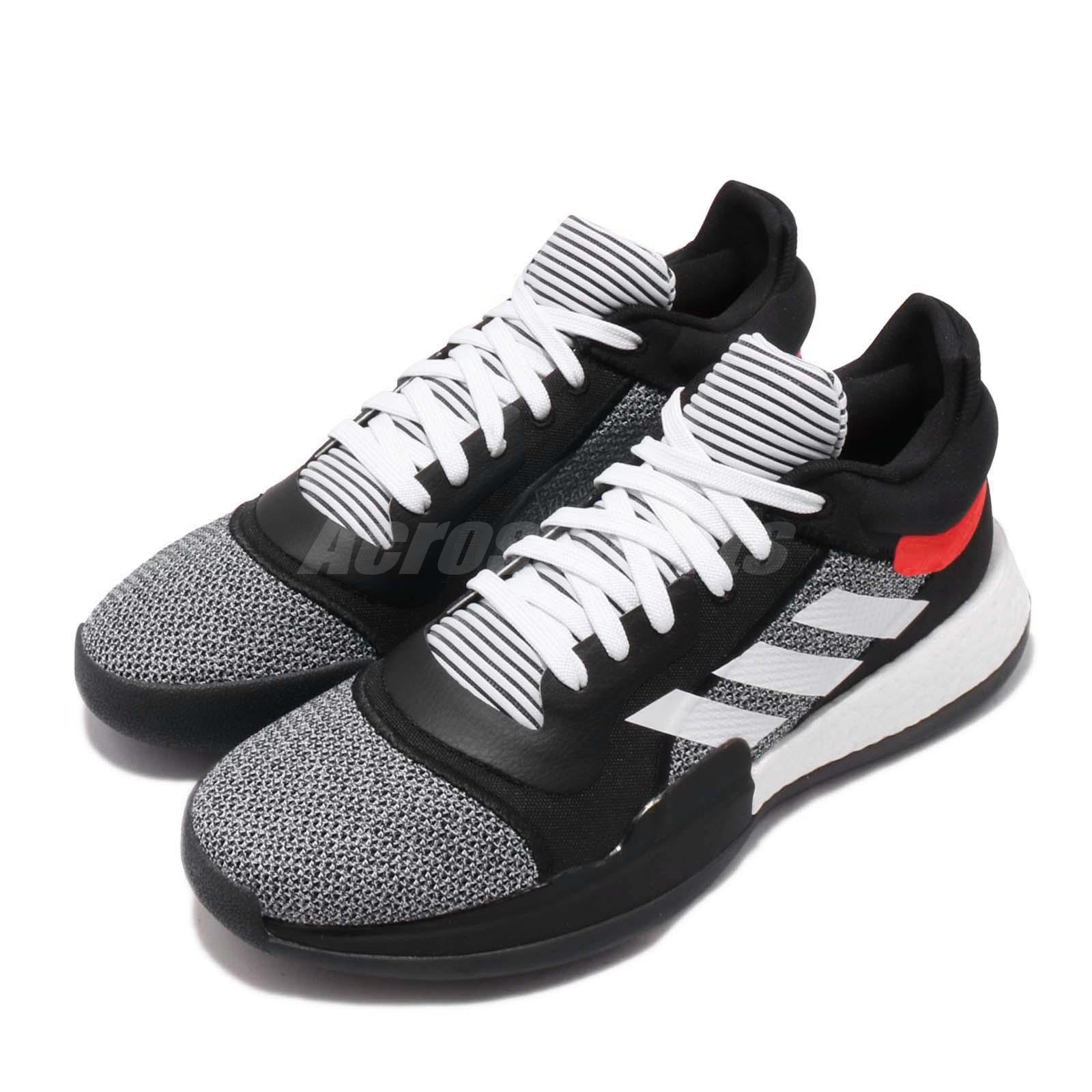 adidas Marquee Boost Low Black White Red Men Basketball Shoes Sneakers  D96931 | eBay