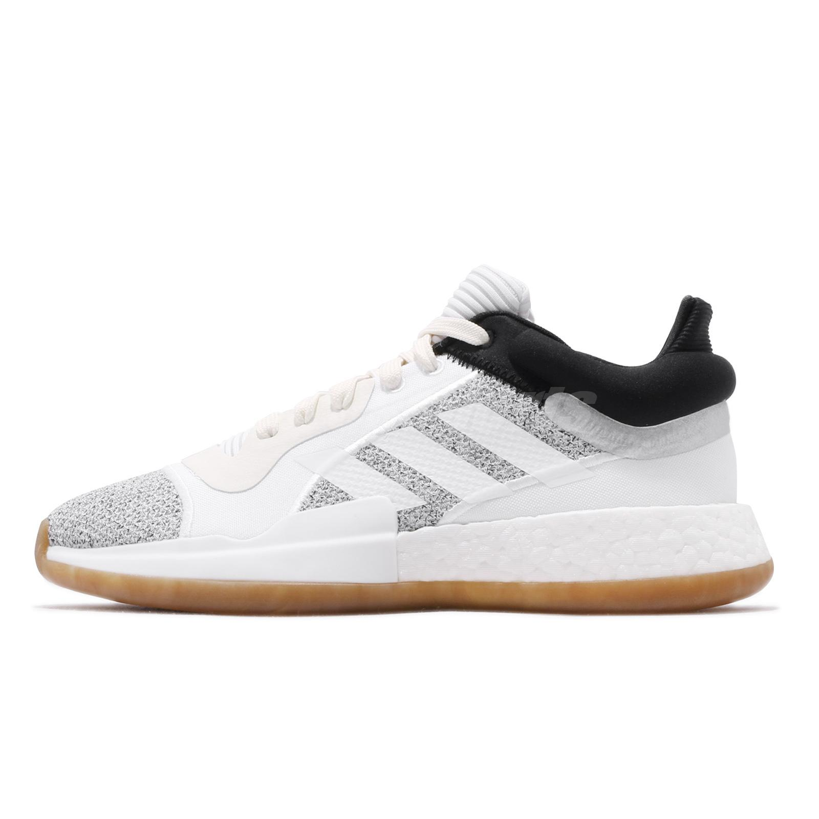 Details about adidas Marquee Boost Low Off White Black Gum Men Basketball Shoes Sneaker D96933