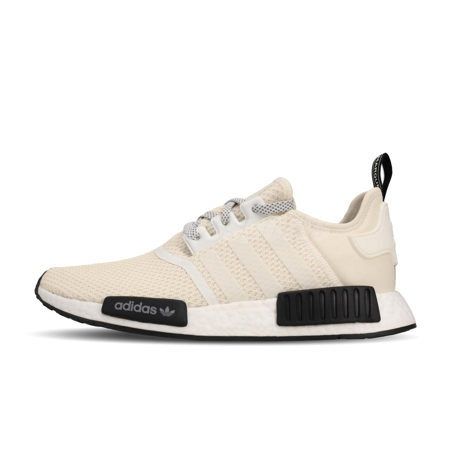 Details about adidas Originals NMD_R1 Boost Off White Ivory Black Men Running Shoes D97215