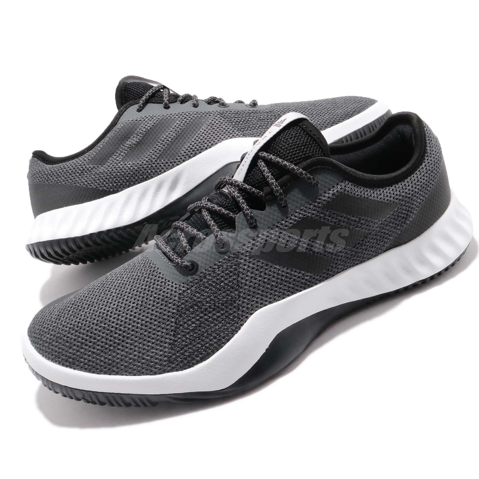 finest selection 882c2 761c5 Details about adidas CrazyTrain LT M Grey Black Men Cross Training Shoes  Sneakers DA8689