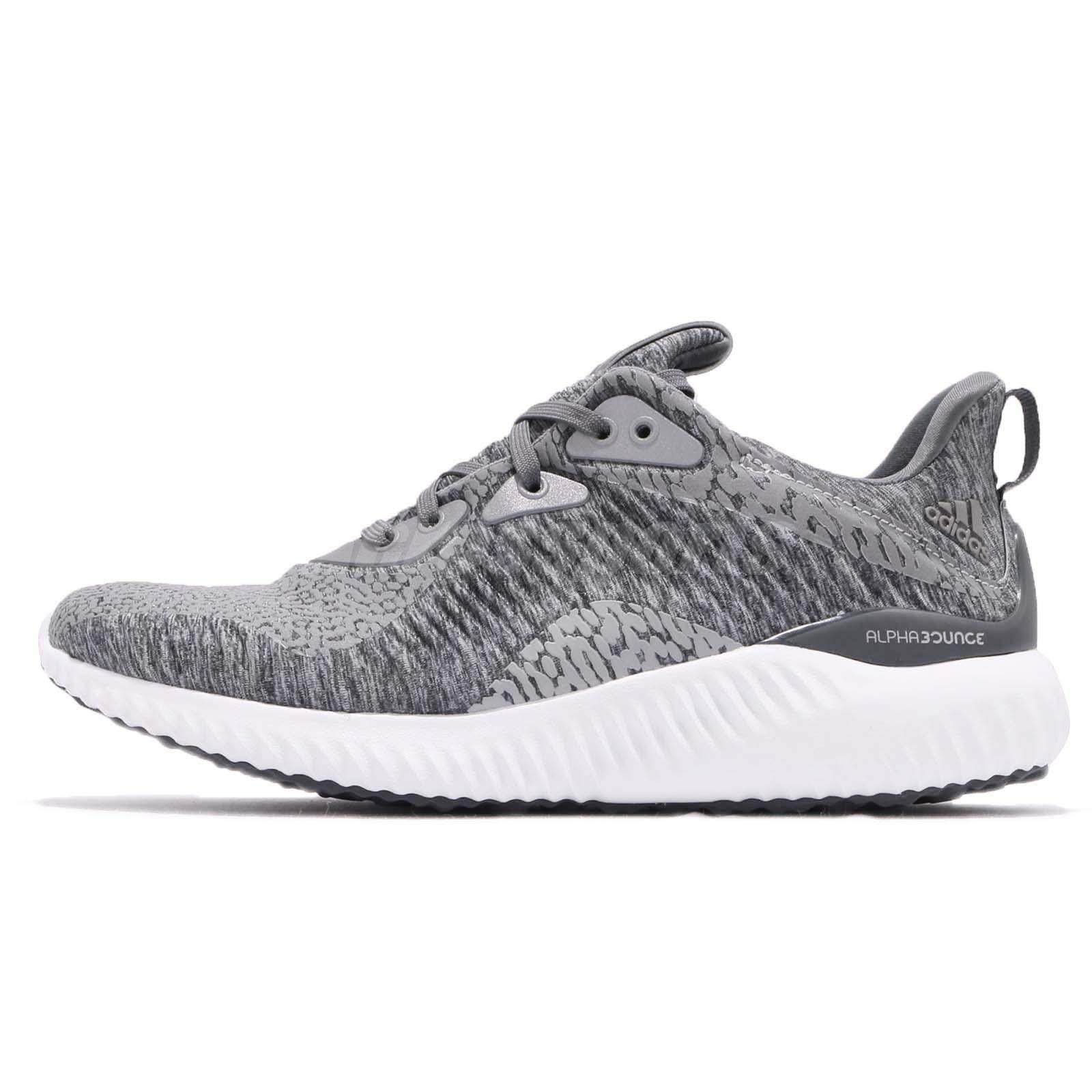 976652a4c adidas Alphabounce HPC AMS W Grey White Women Running Shoes Sneakers DA8708