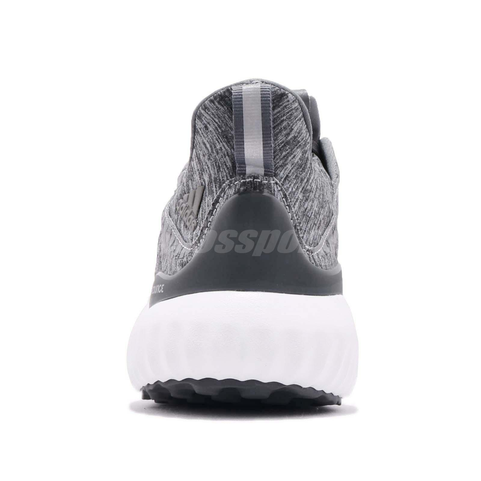 e5570fc57 adidas Alphabounce HPC AMS W Grey White Women Running Shoes Sneakers ...