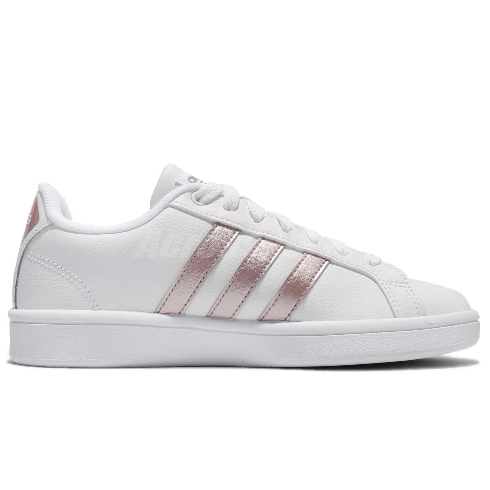 adidas cf advantage vapor grey metallic pink women shoes sneakers da9524 ebay. Black Bedroom Furniture Sets. Home Design Ideas