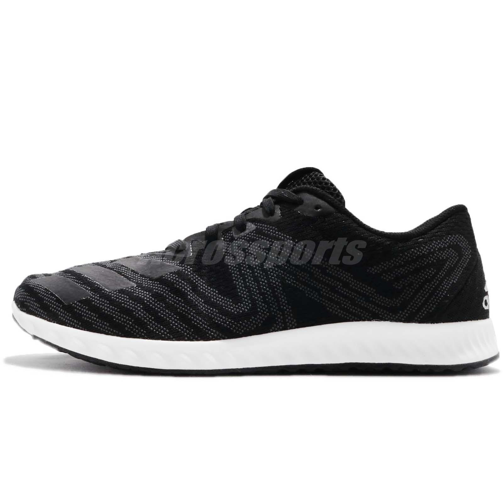 promo code 73122 a6df2 adidas Aerobounce PR M Black White Men Running Shoes Sneakers DA9917