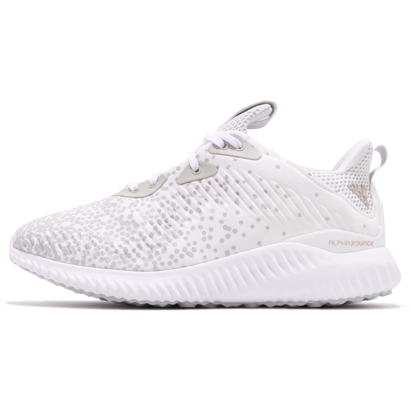 the latest 0c59a f9e8e adidas Alphabounce 1 W White Grey Black Women Running Shoes Sneakers DA9971