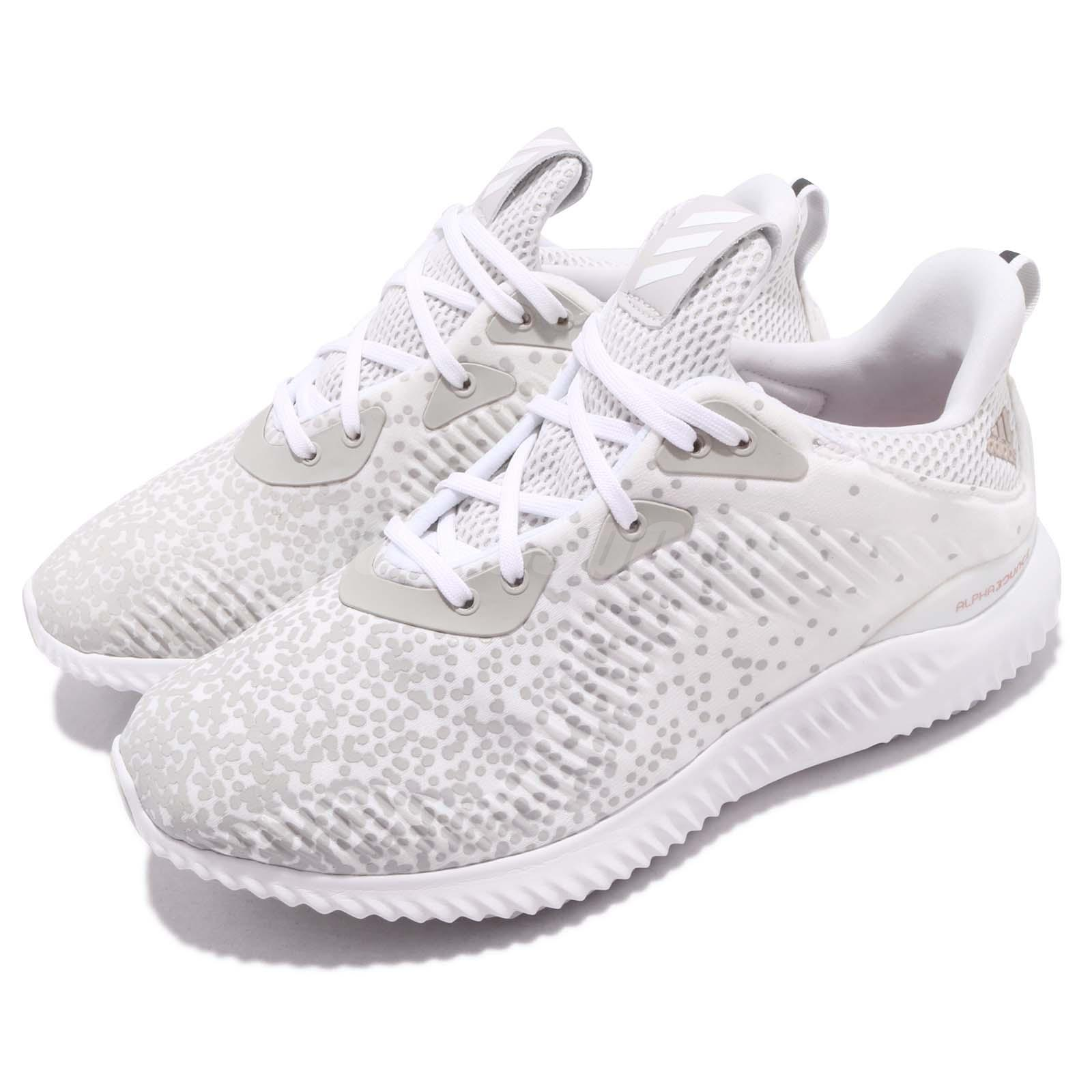 45ac1785b72f Details about adidas Alphabounce 1 W White Grey Black Women Running Shoes  Sneakers DA9971