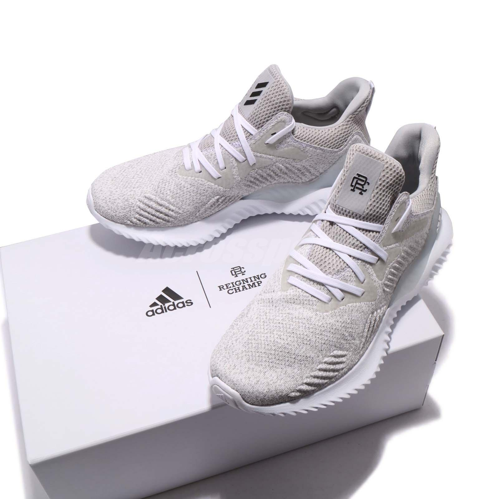 0193e10cf ... reduced reigning champ x adidas alphabounce beyond white grey men  running db9f8 42502