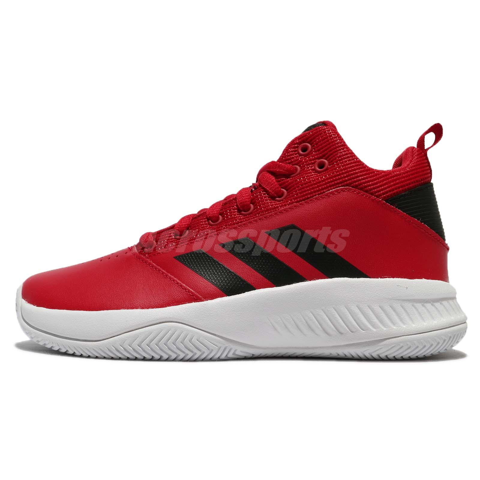 adidas CF Ilation 2.0 K Scarlet Black Kids Women Basketball Shoes Sneaker  DB0138