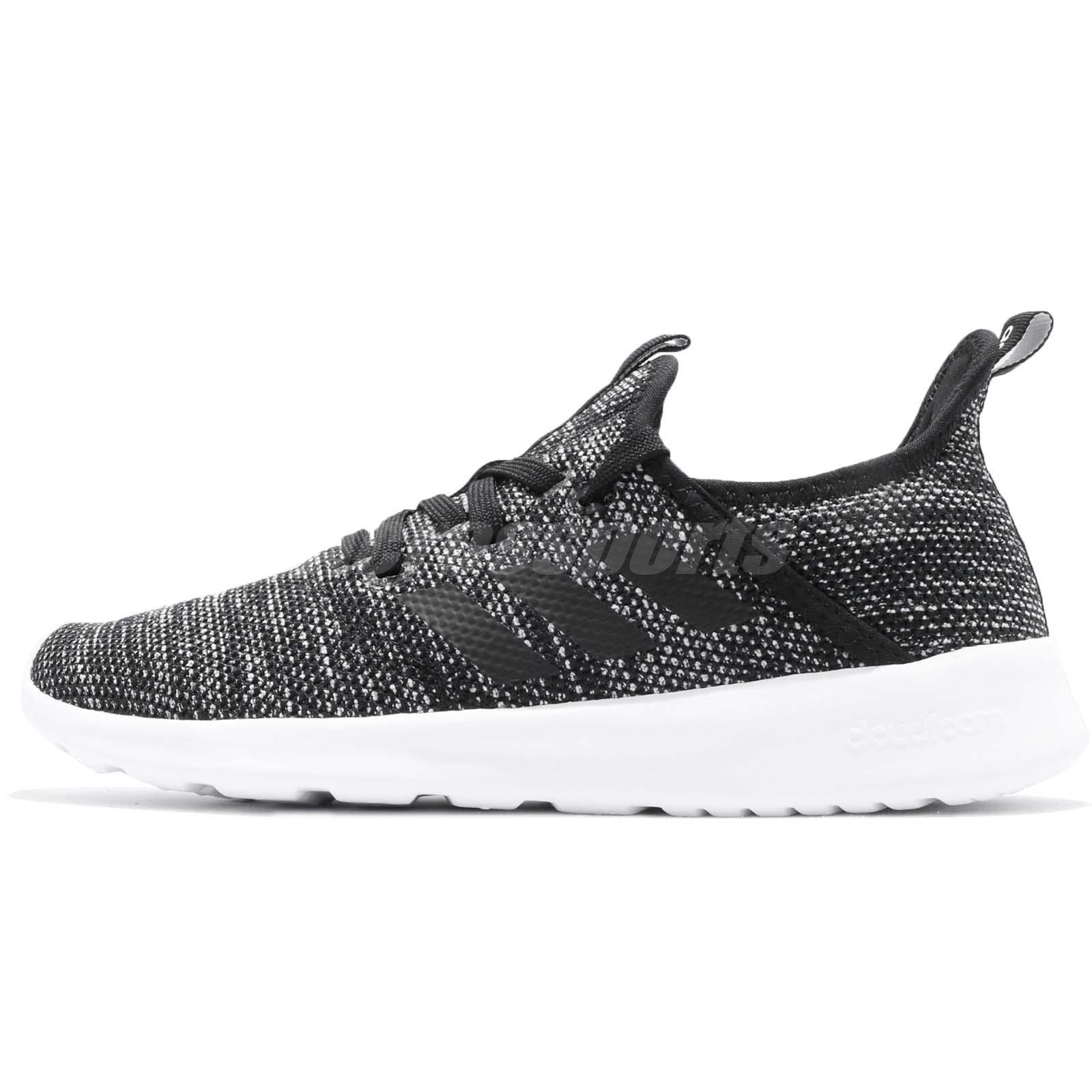 size 40 b8564 c3414 adidas Cloudfoam Pure Black White Women Running Casual Shoes Sneakers DB0694