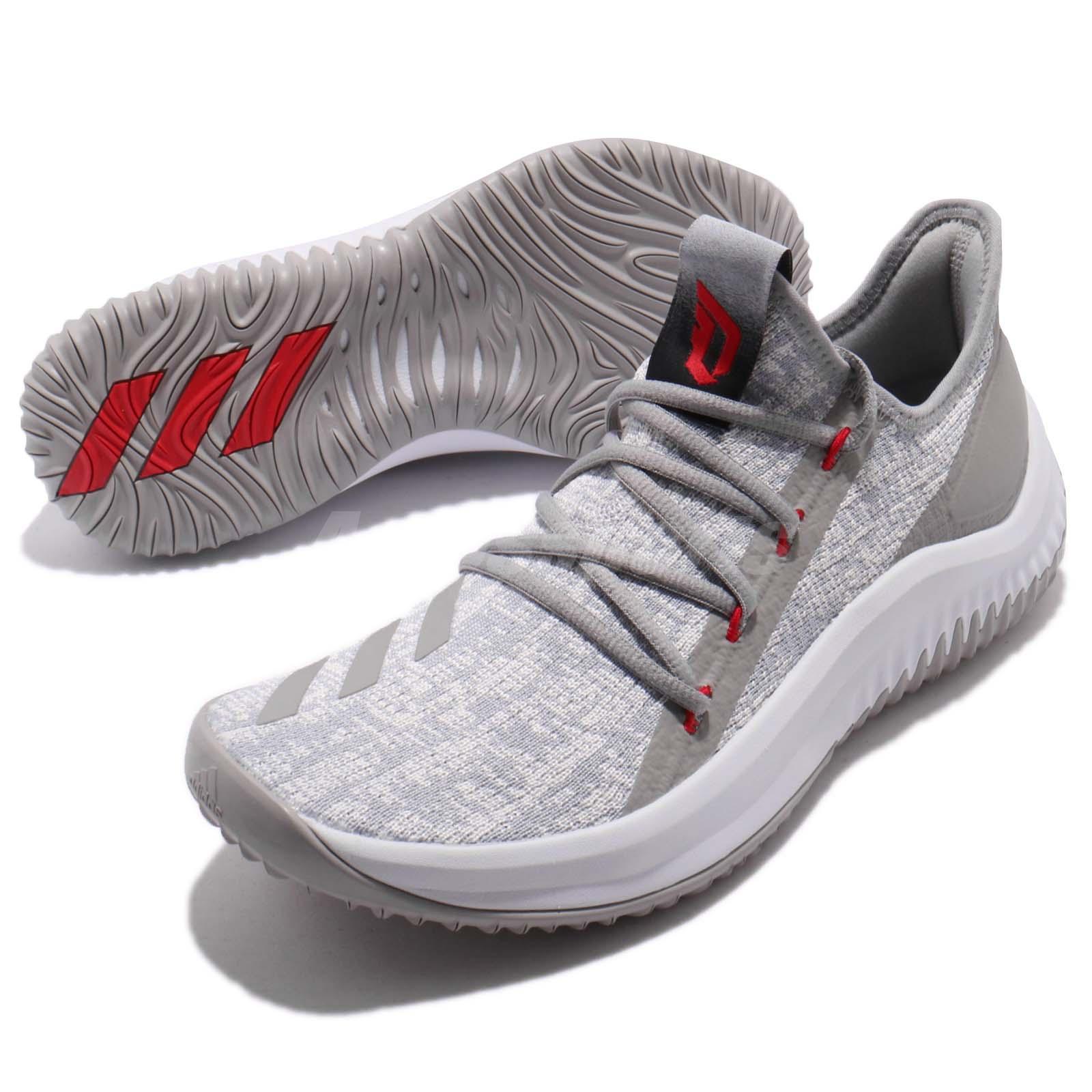 newest dc845 c2dc2 Details about adidas Dame D.O.L.L.A. Damian Lillard Grey White Men  Basketball Sneakers DB1073