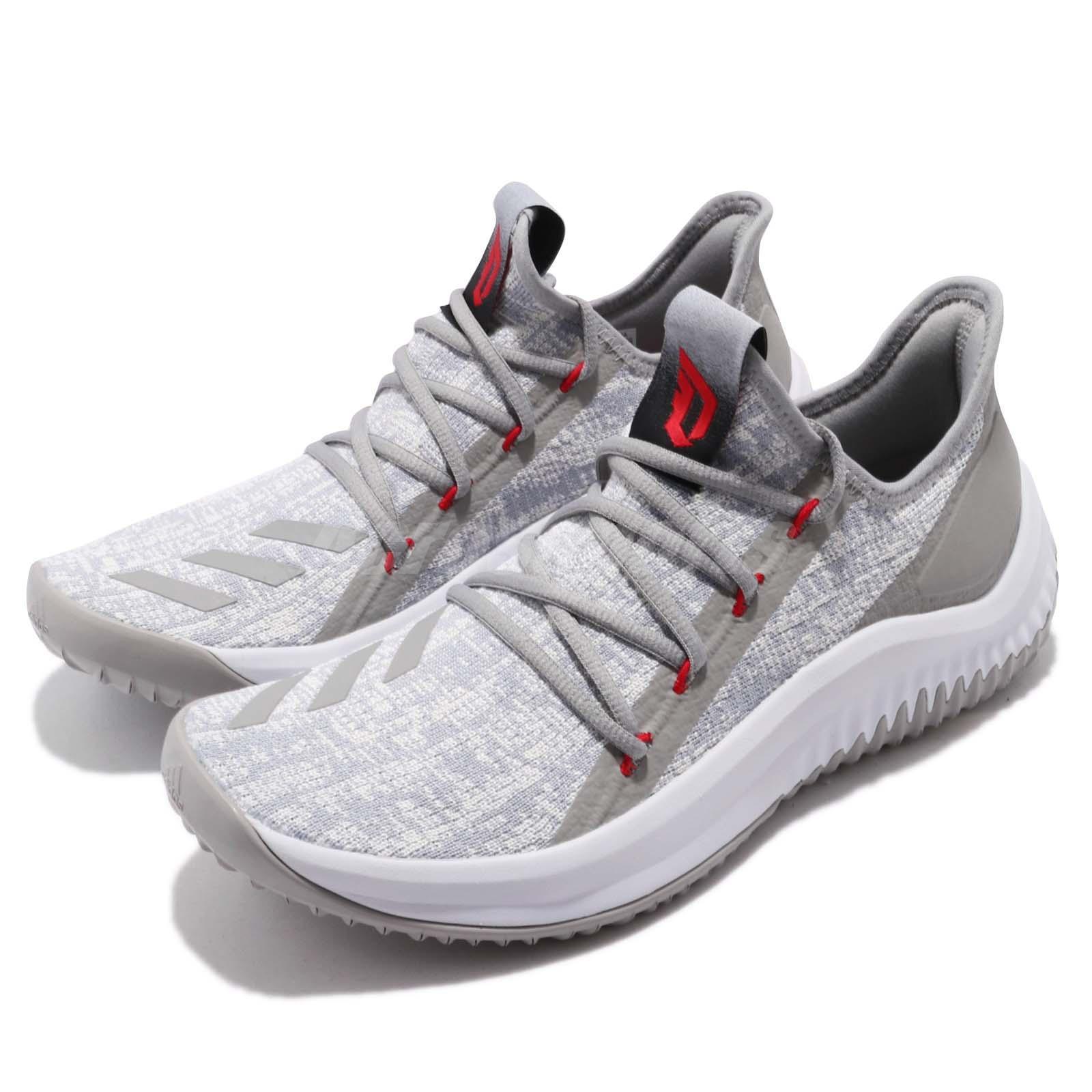 newest 5d171 77f11 Details about adidas Dame D.O.L.L.A. Damian Lillard Grey White Men  Basketball Sneakers DB1073