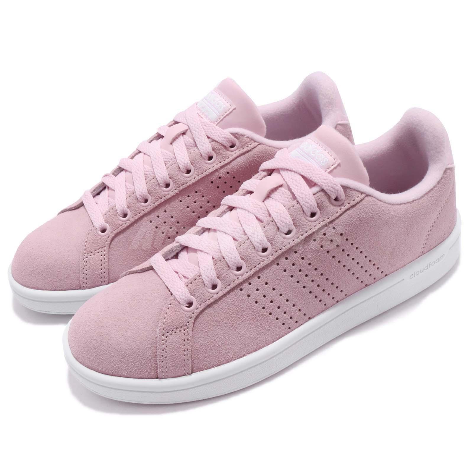 adidas CF Advantage CL W Cloudfoam Pink White Women Shoes Sneakers  DB1319