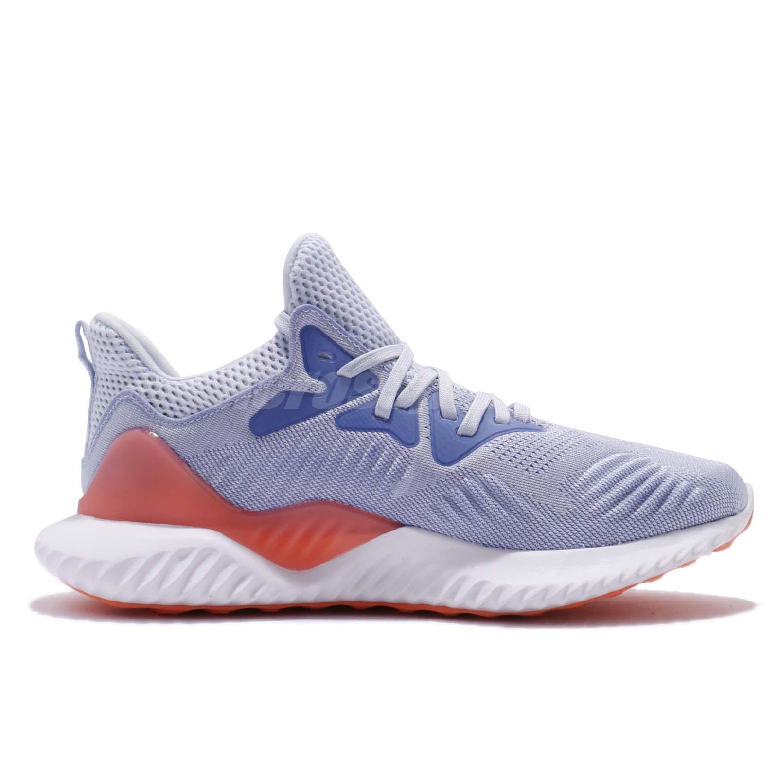 3e3a9c901 adidas AlphaBOUNCE Beyond J Aero Blue Pink Kids Junior Running Shoes ...