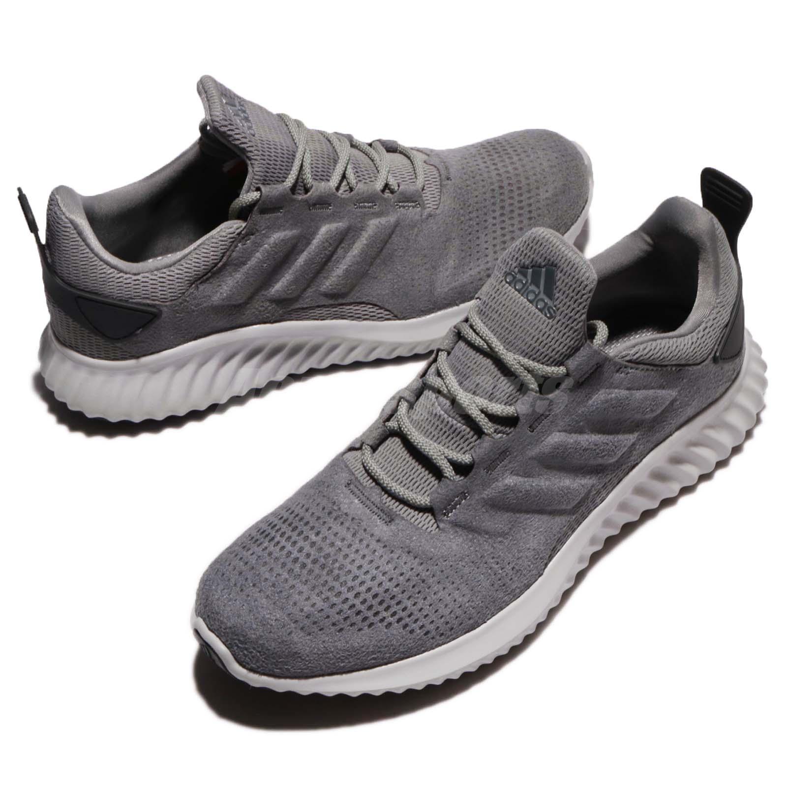 0ad7eeb482096 adidas Alphabounce CR M Grey Black Men Running Training Shoes ...