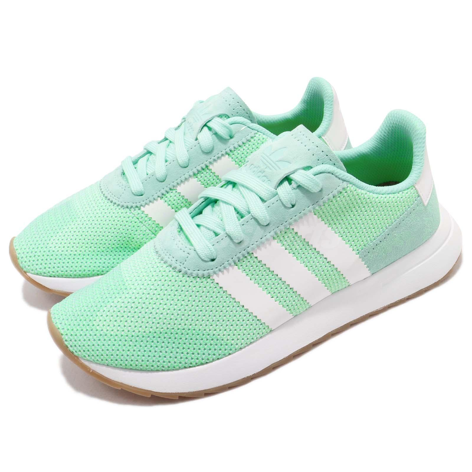 cheaper 42c89 c30e0 Details about adidas Originals FLBRunner W Flashback Green White Women  Running Shoes DB2122