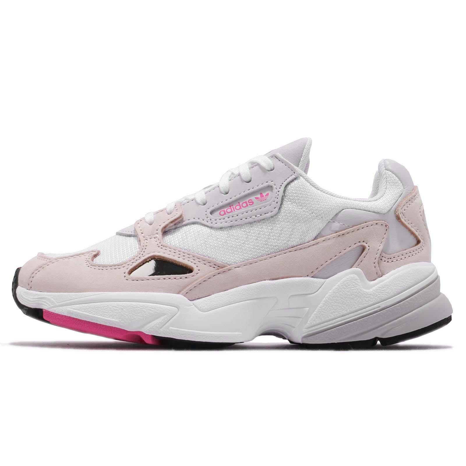 cheap for discount 0f38f be31b adidas Originals Falcon W White Ice Pink Grey Women Running Chunky Shoes  DB2763