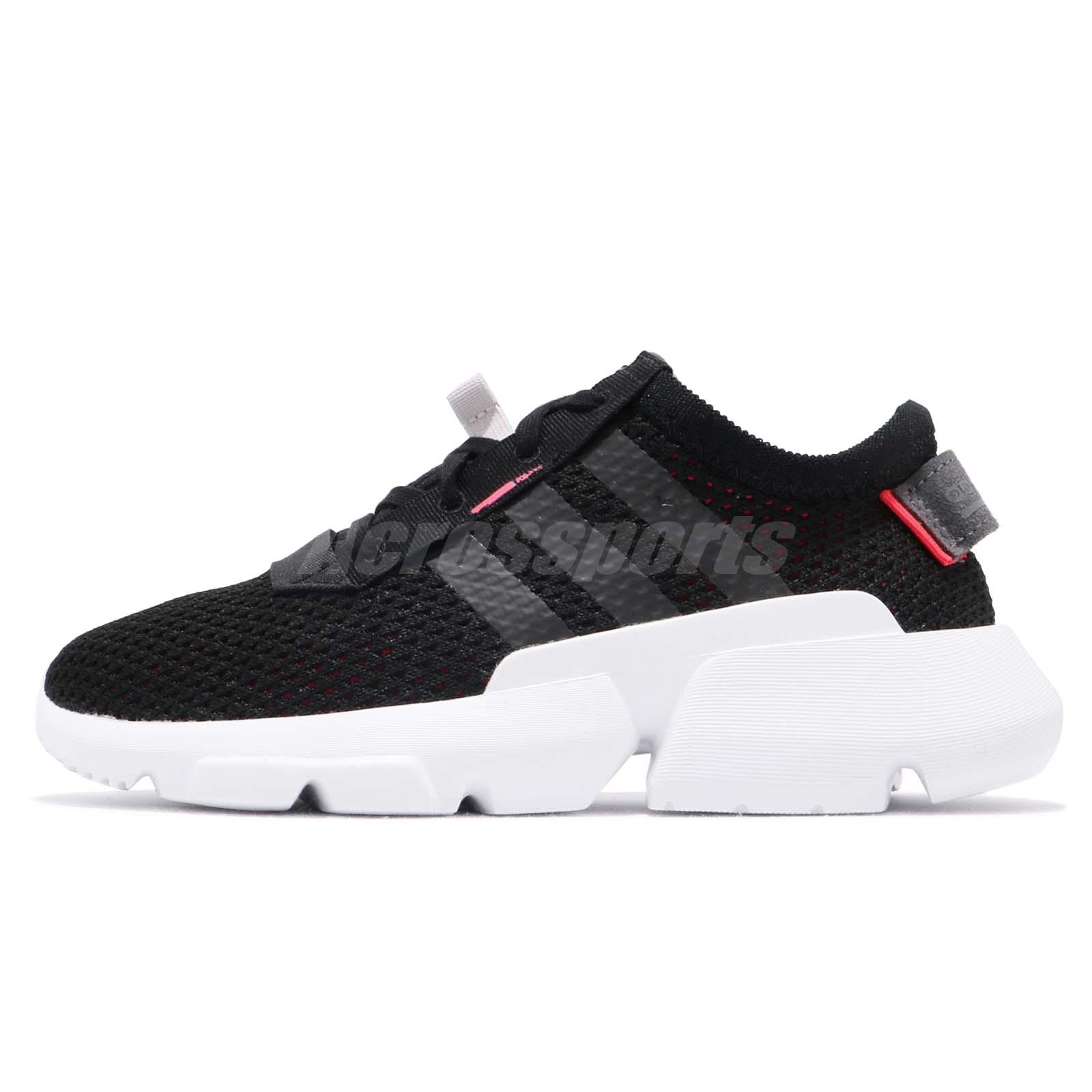 4fd34c06dcab9 adidas Originals Pod-S3.1 C Black Red White Kid Preschool Shoes Sneakers  DB2878