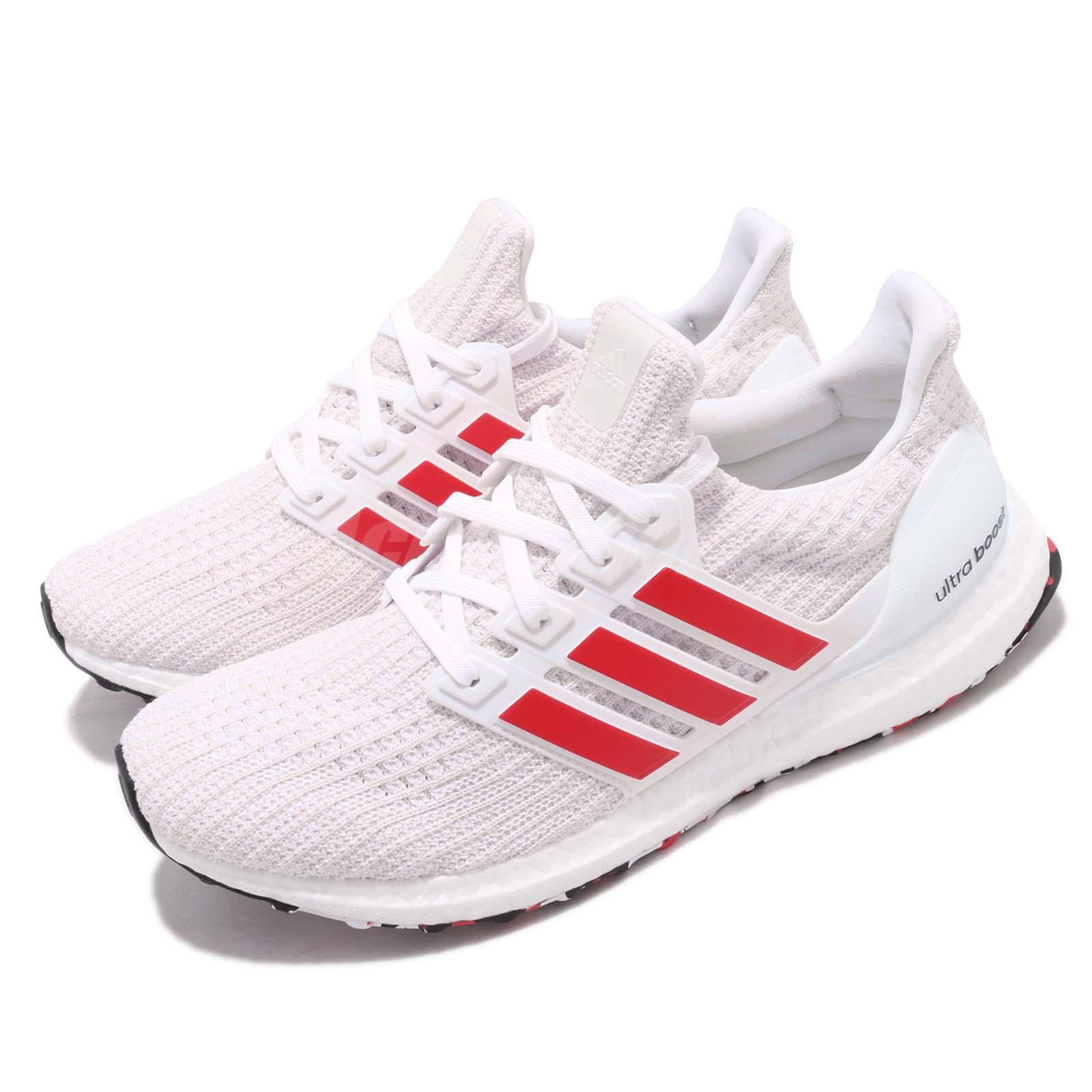 9a0c989cce271 Details about adidas UltraBoost 4.0 Active Red Stripes White Men Running  Shoes Sneakers DB3199